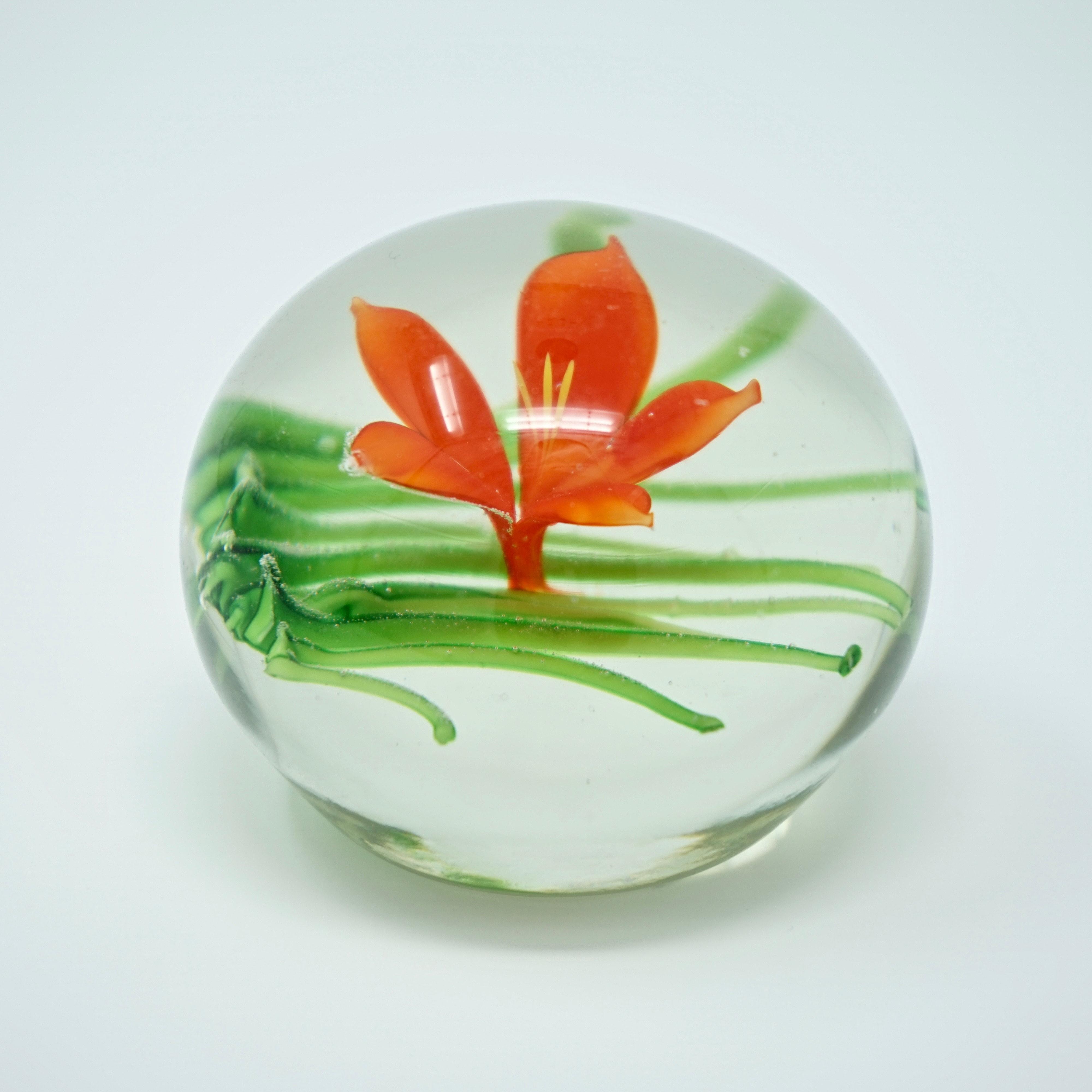 Boule en Sulfure Fleur Orange