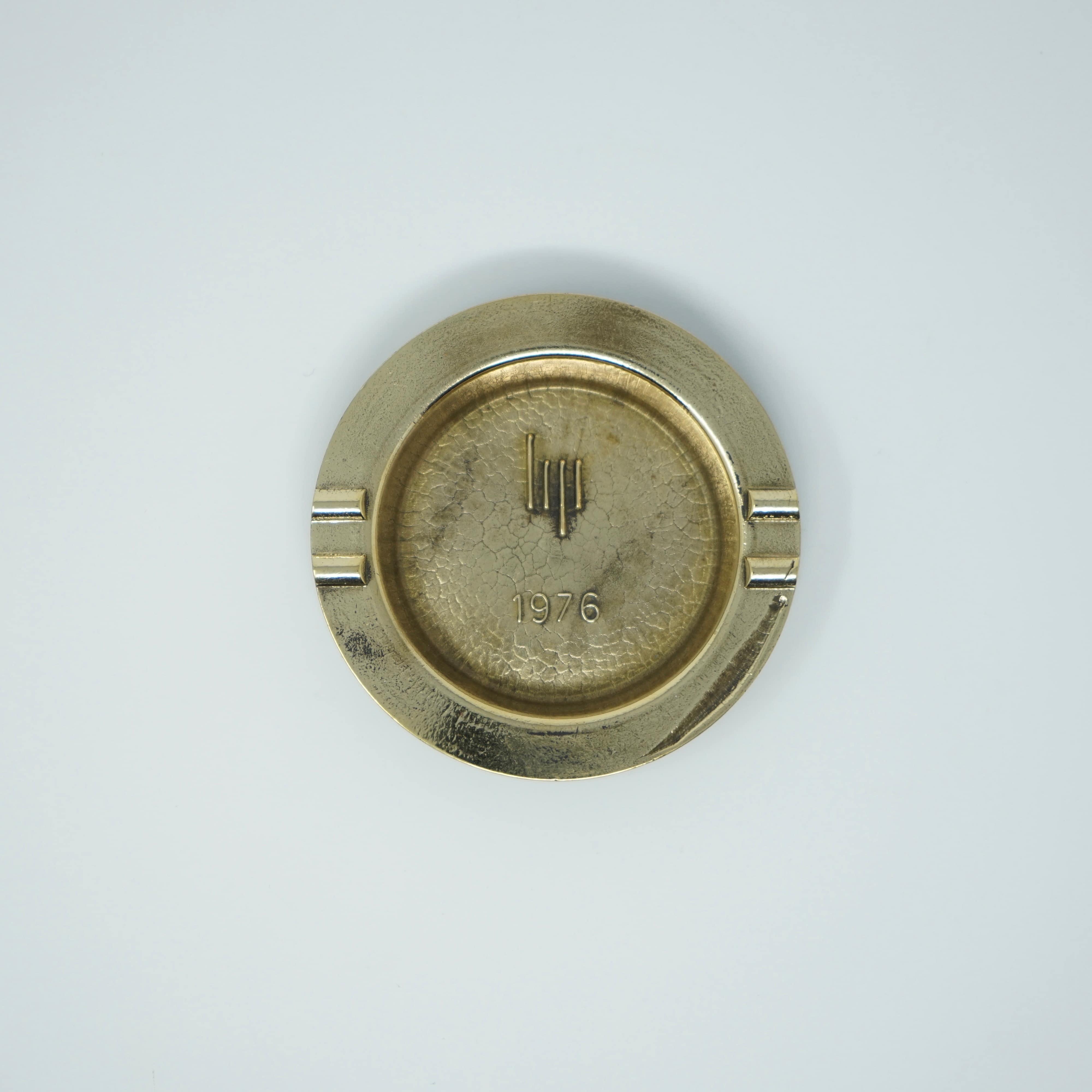 Cendrier LIP en Bronze de 1976 Vue de Haut