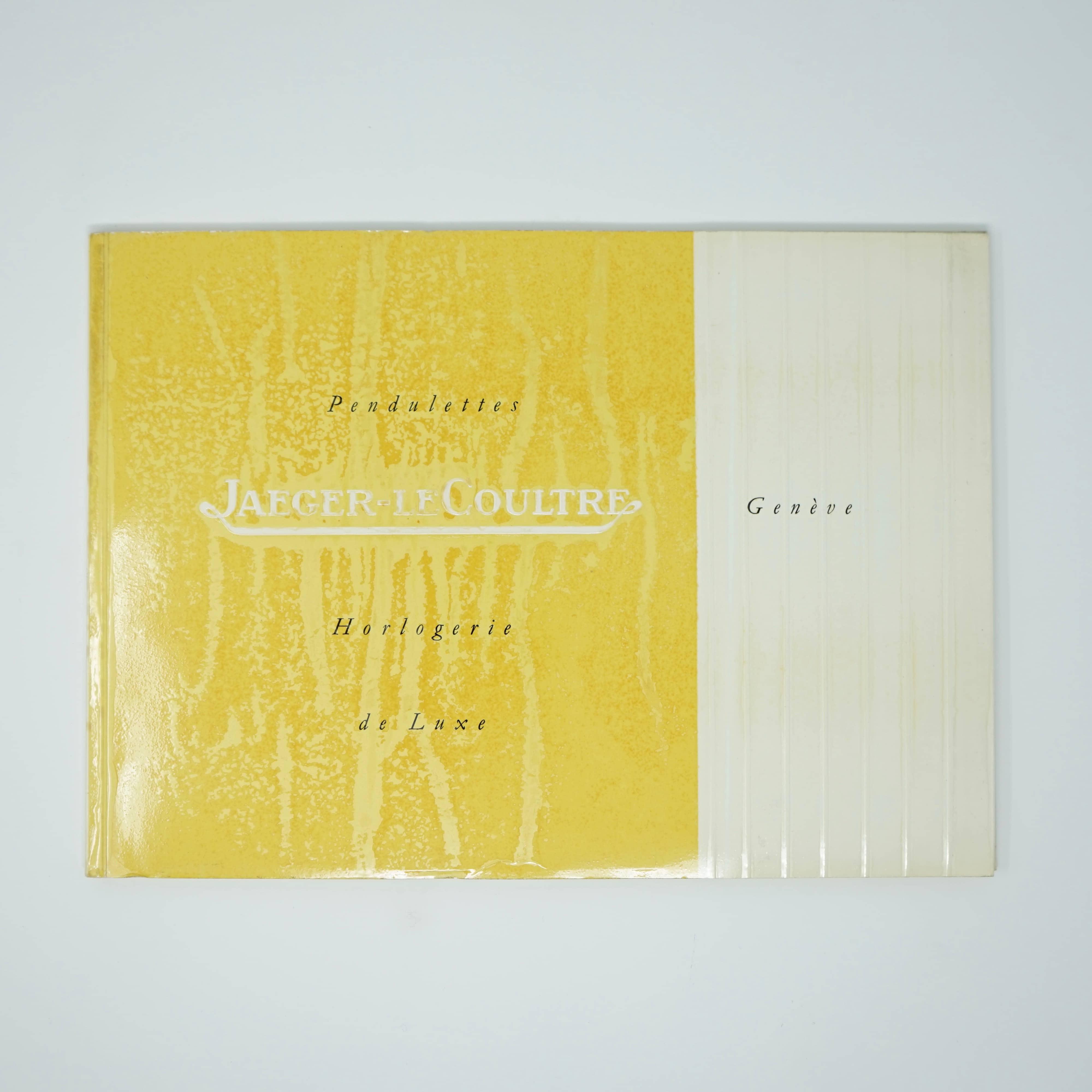 Catalogue de Pendulettes Jaeger-Lecoultre
