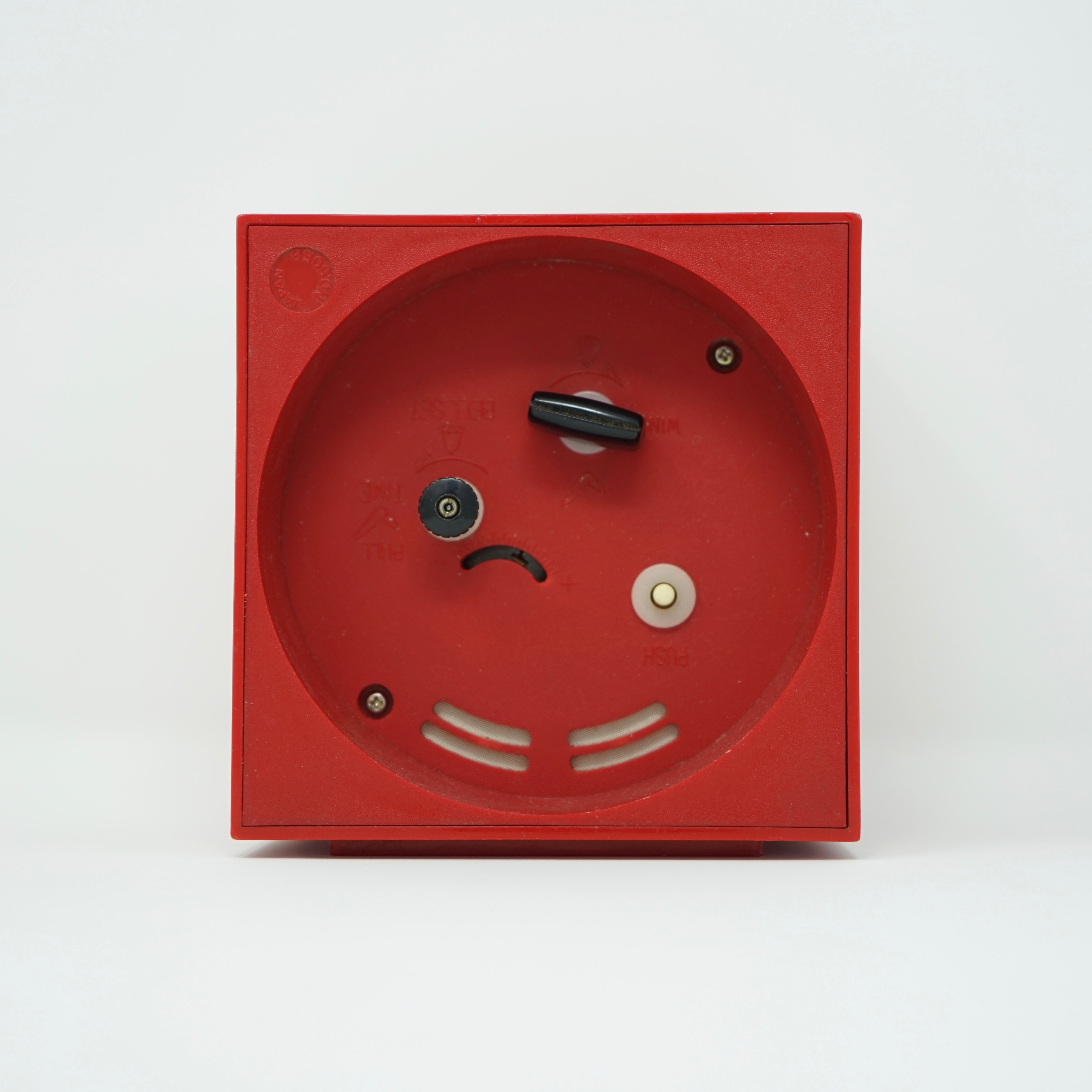 Réveil Design Rouge Garant Derrière