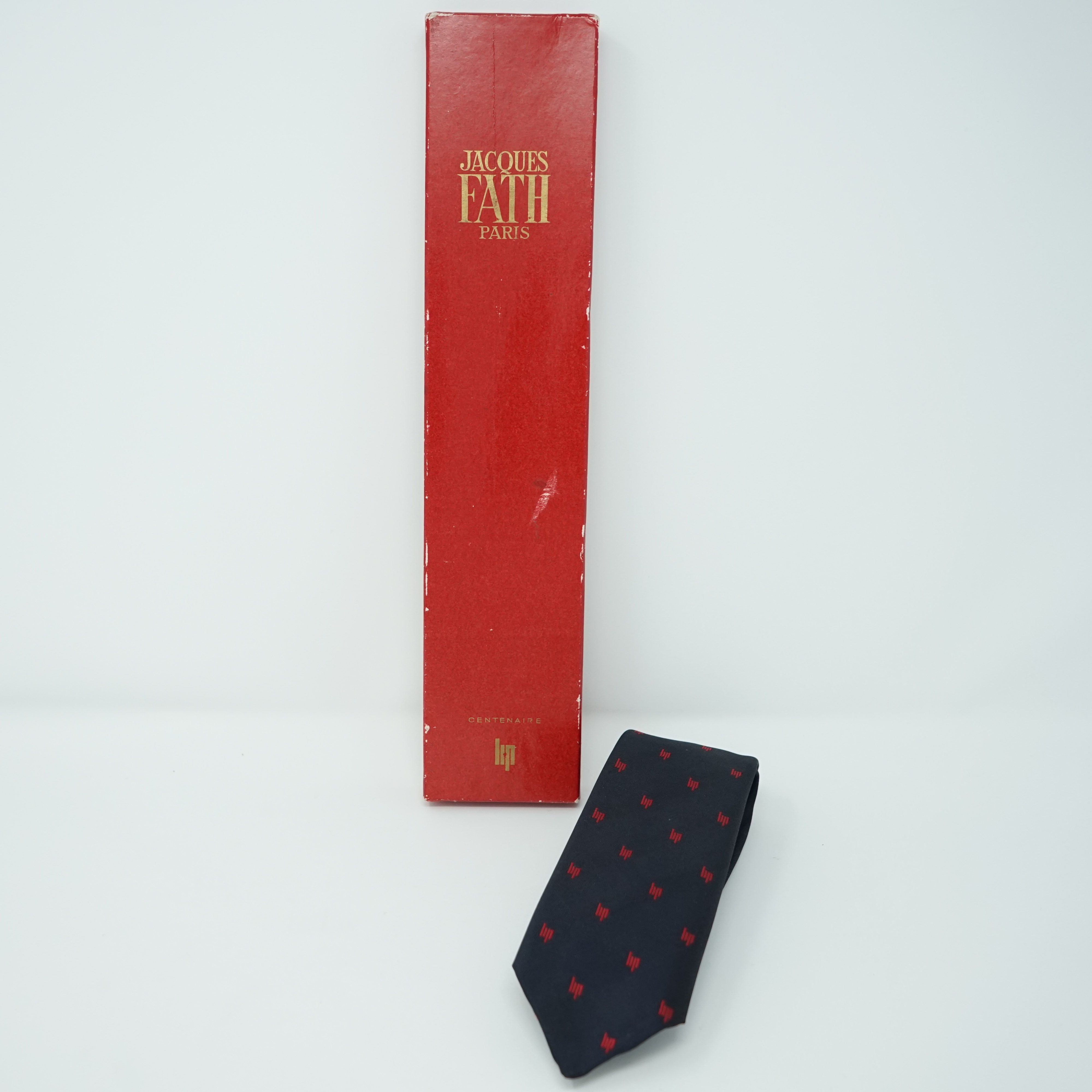 Cravate LIP Bleu Marine Dans sa Boîte