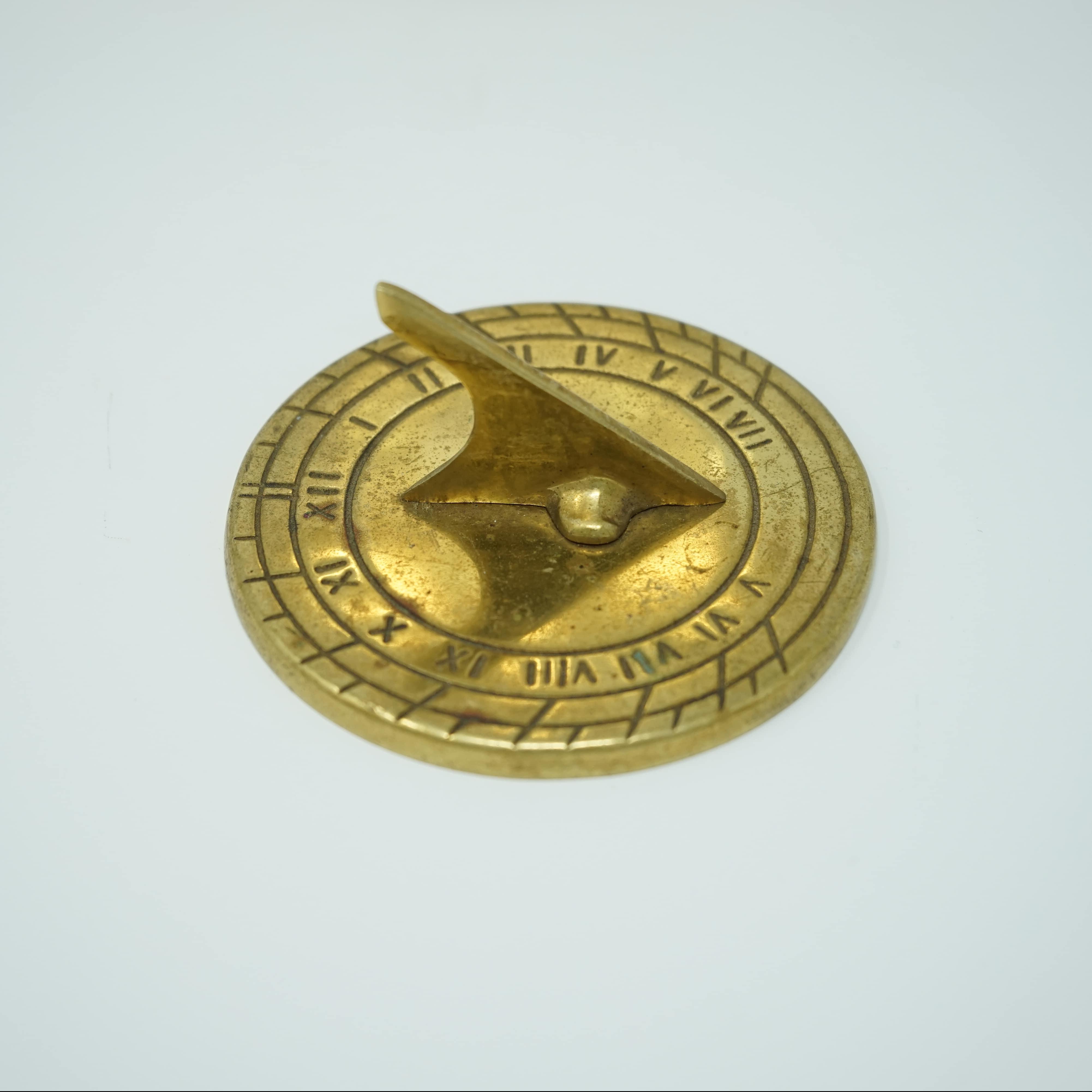 Cadran Solaire Portable en Bronze