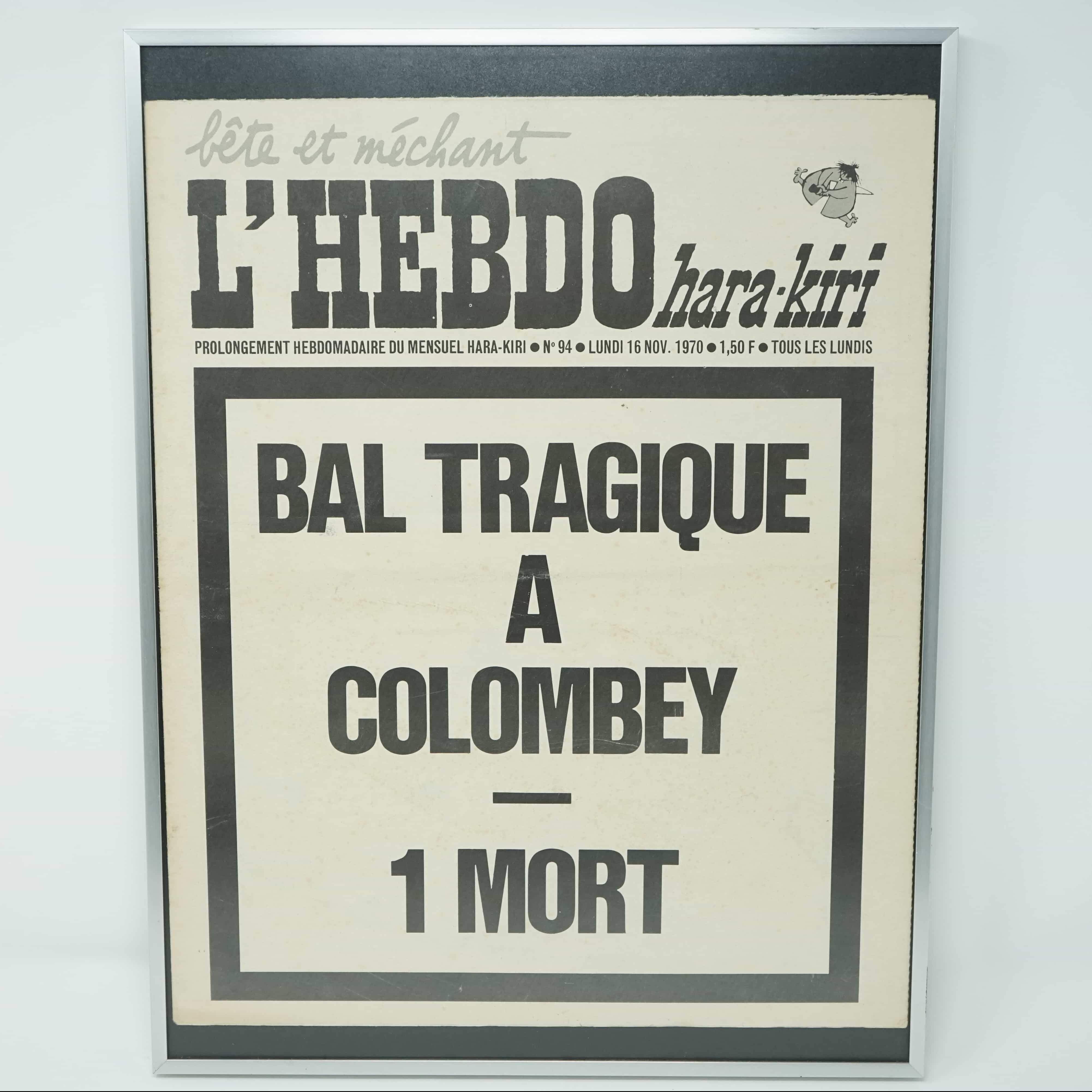 Numéro Encadré Hara-Kiri Bal Tragique à Colombey