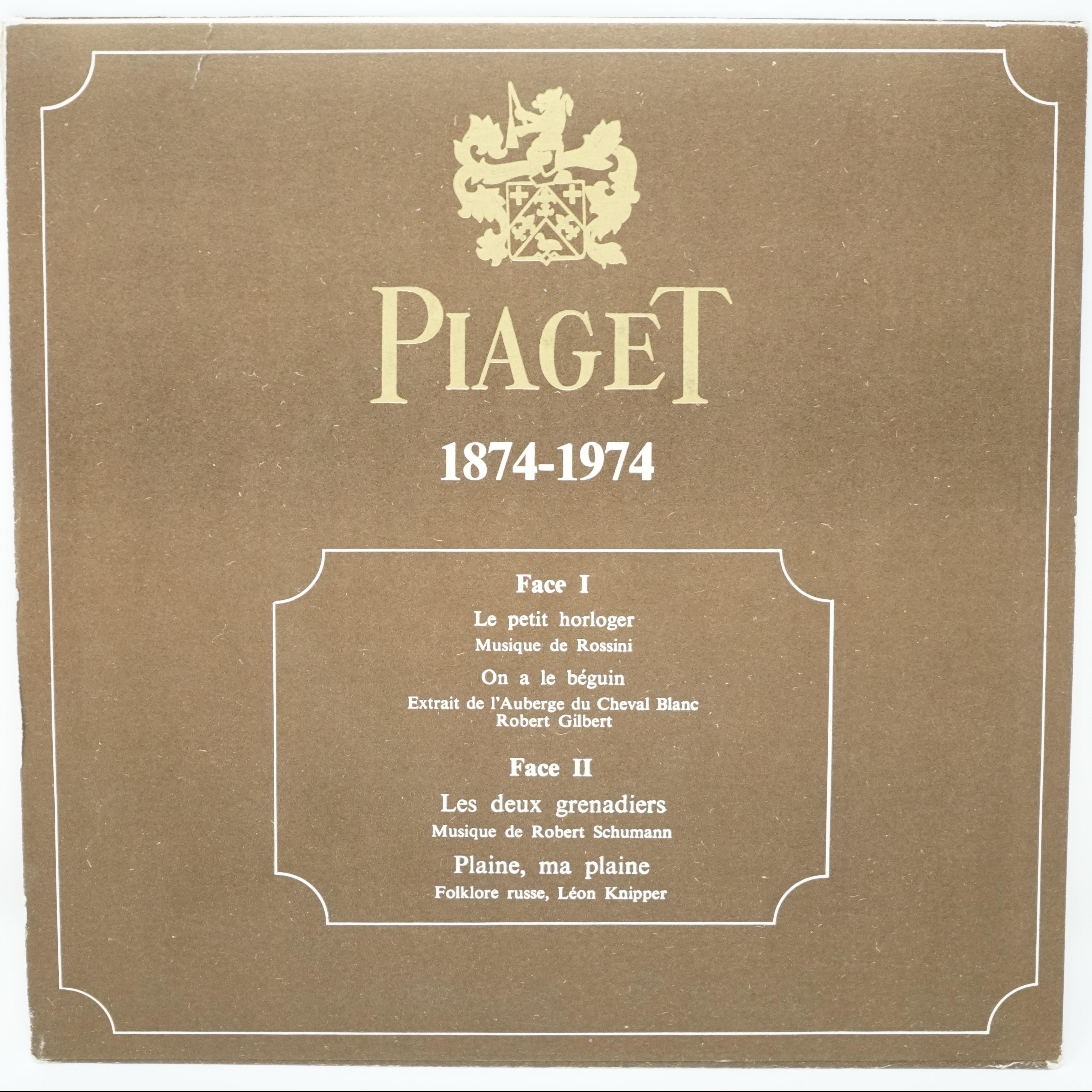 Disque Vinyle Commémoratif Piaget