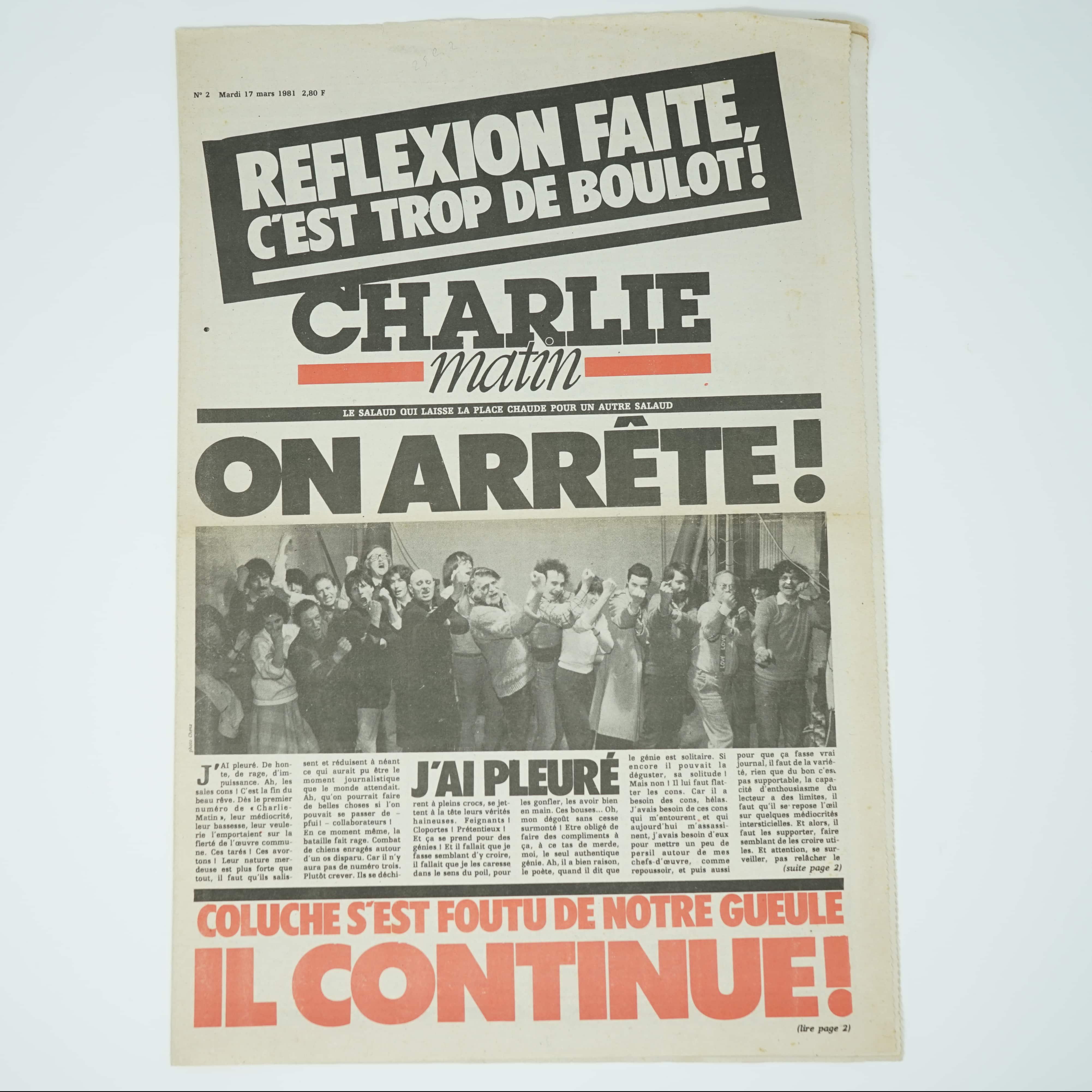 Magazine Charlie Matin 1981