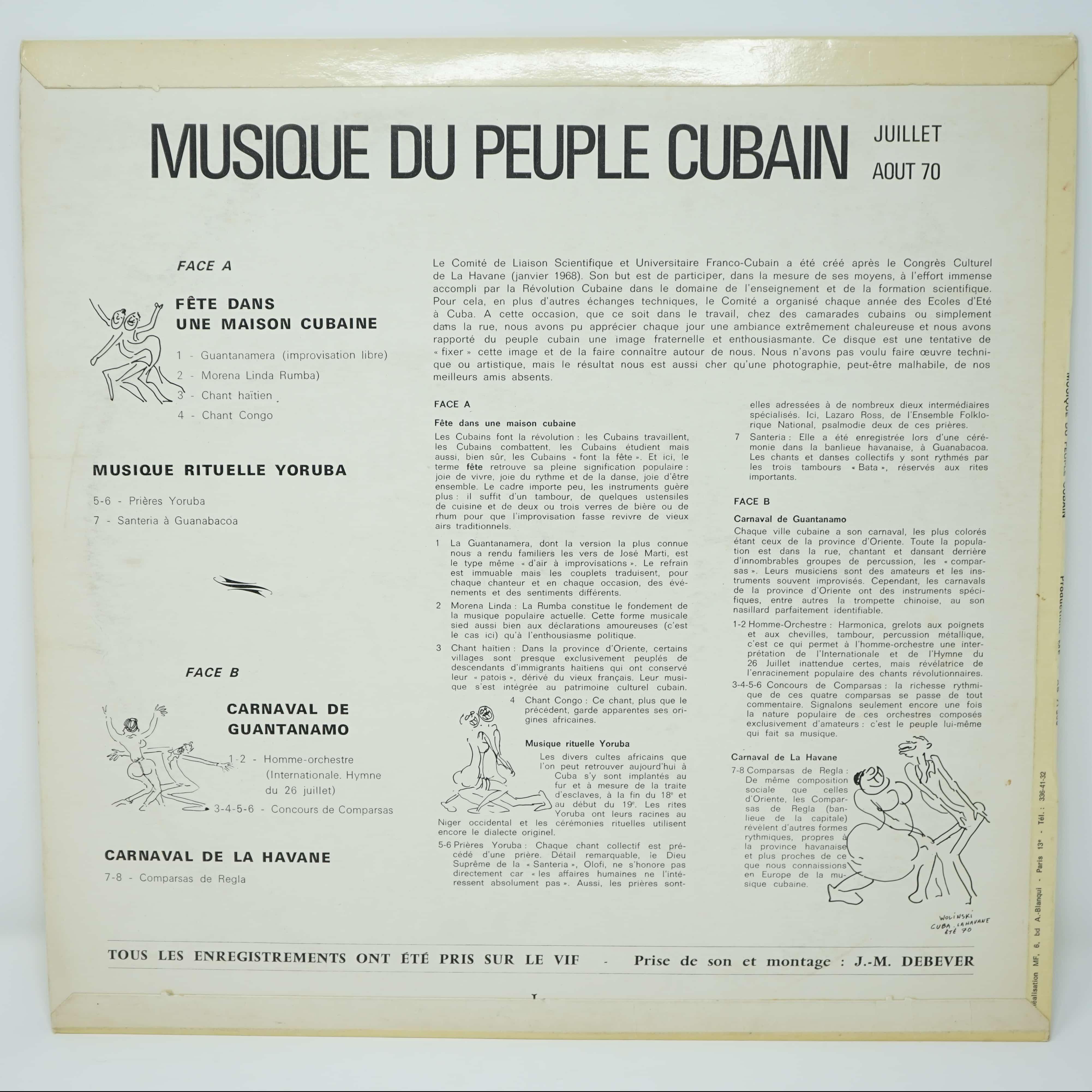 Disque Vinyle Illustré par Wolinski