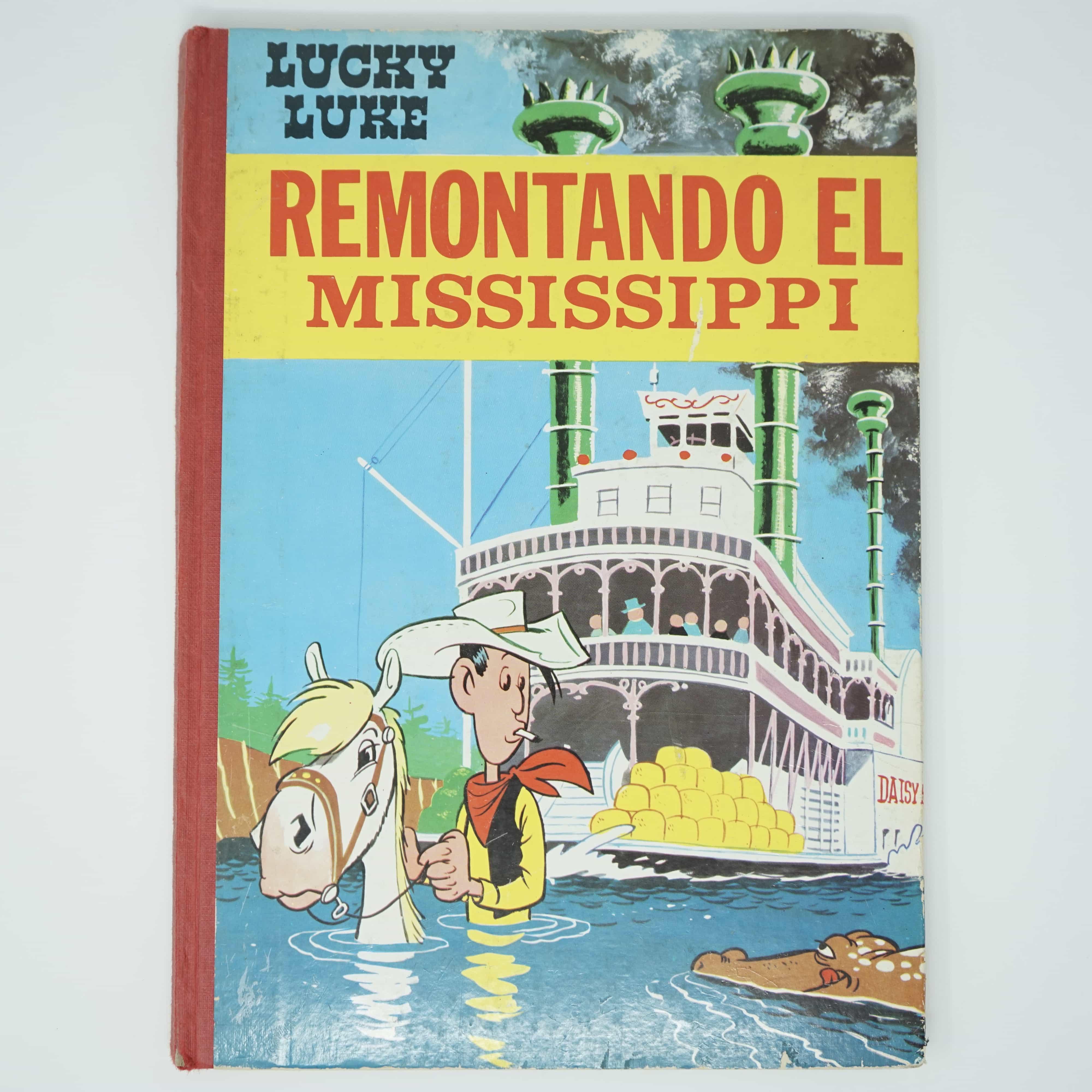 Bande Dessinée Lucky Luke Remontando el Mississippi Couverture