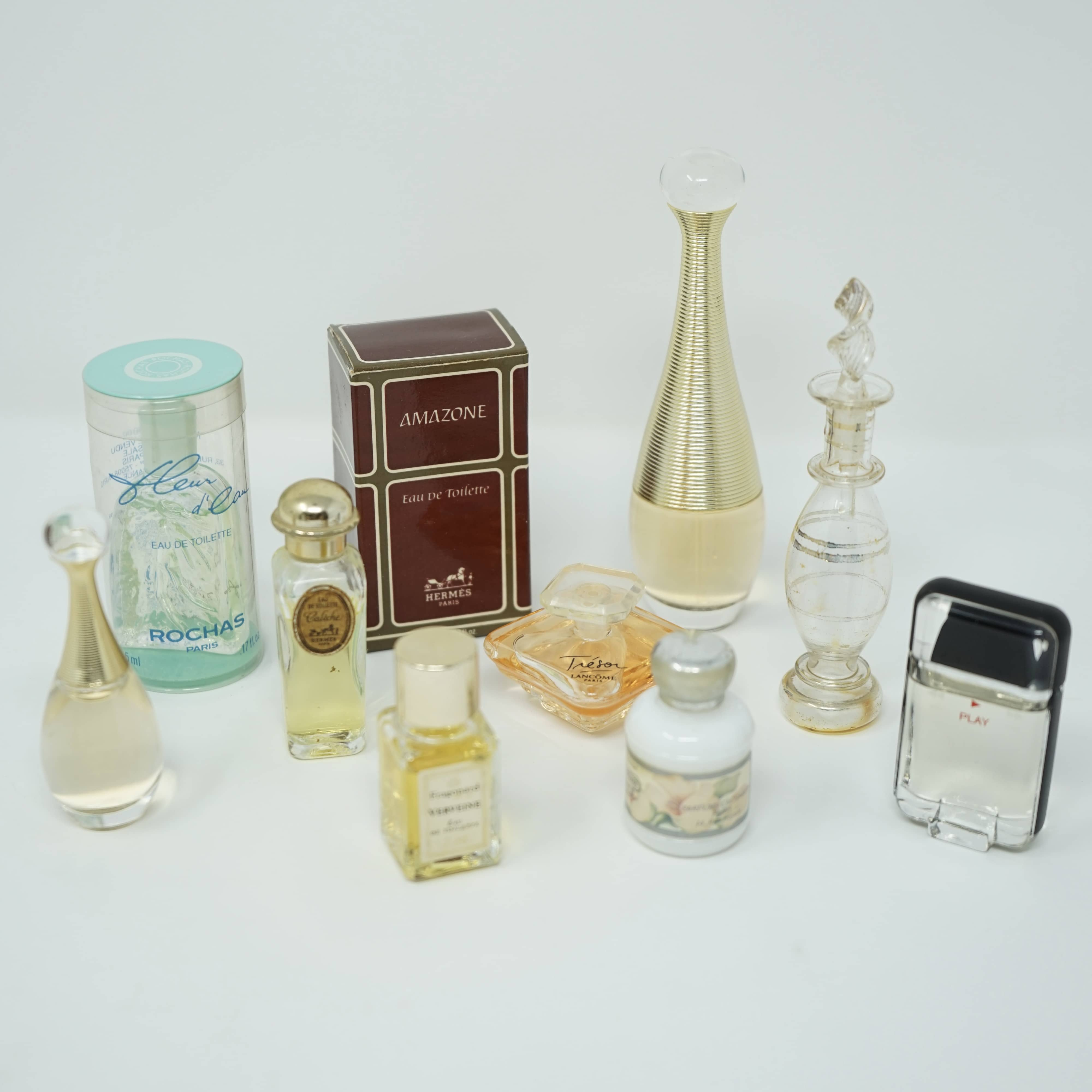Lot Échantillons Flacons Parfum Fragrance Vintage et Anciens Hermès Guerlain Rochas Lancôme