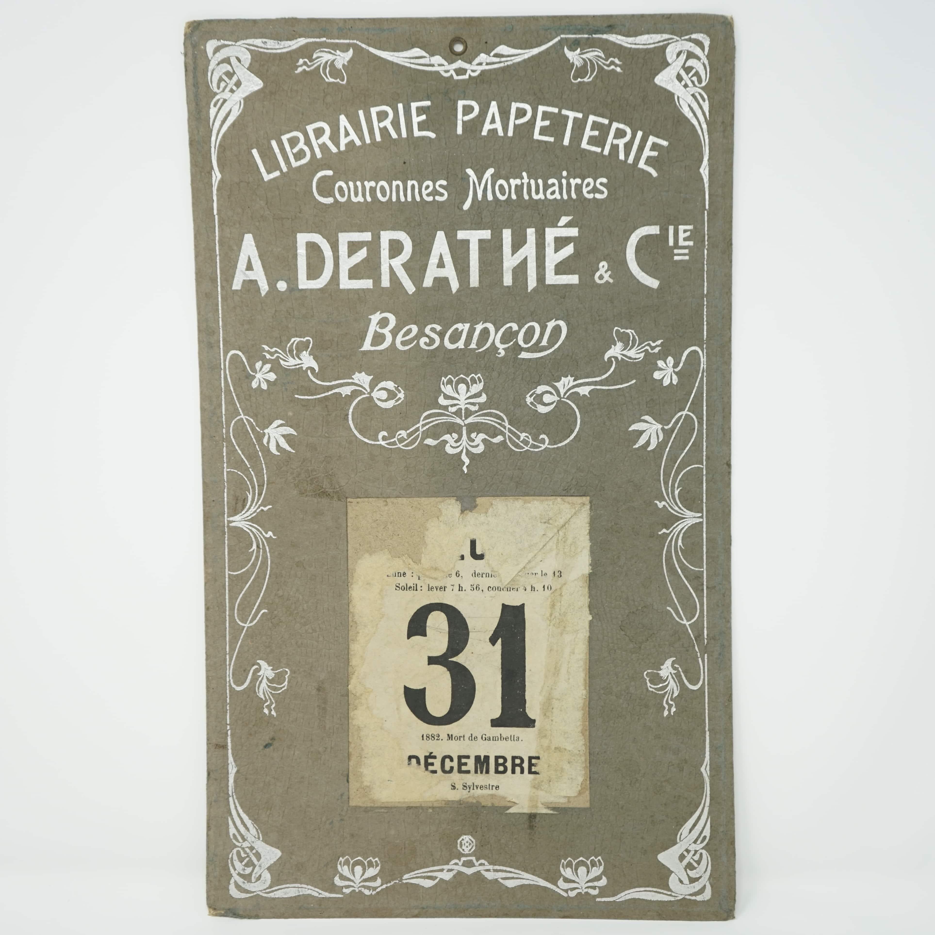 Publicité Librairie Alfred Derathé Besançon