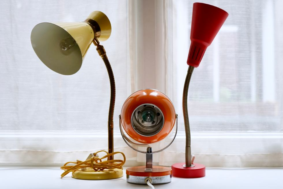 Photo d'Illustration - Art et Décoration - Lampes Années 50 60 70 Jaune Orange Rouge