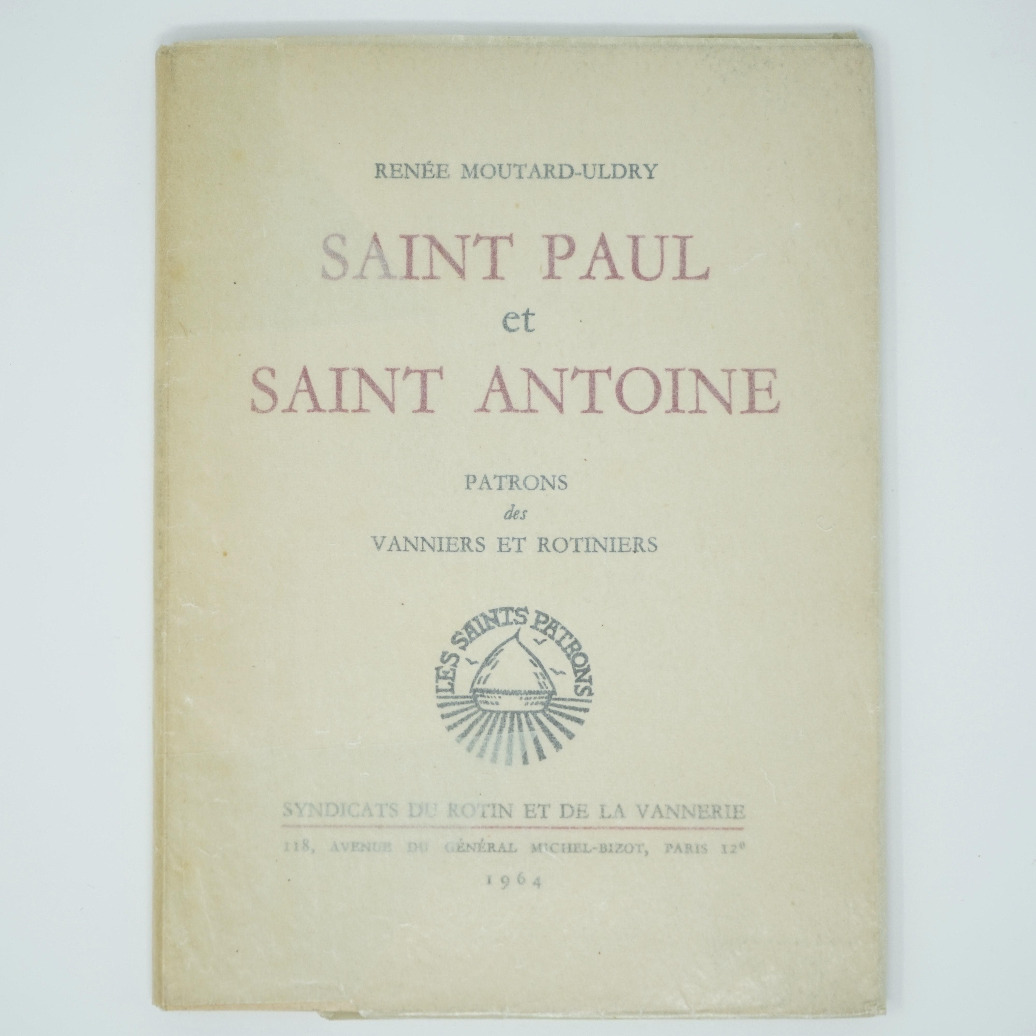 Livre Saint Paul et Saint Antoine couverture