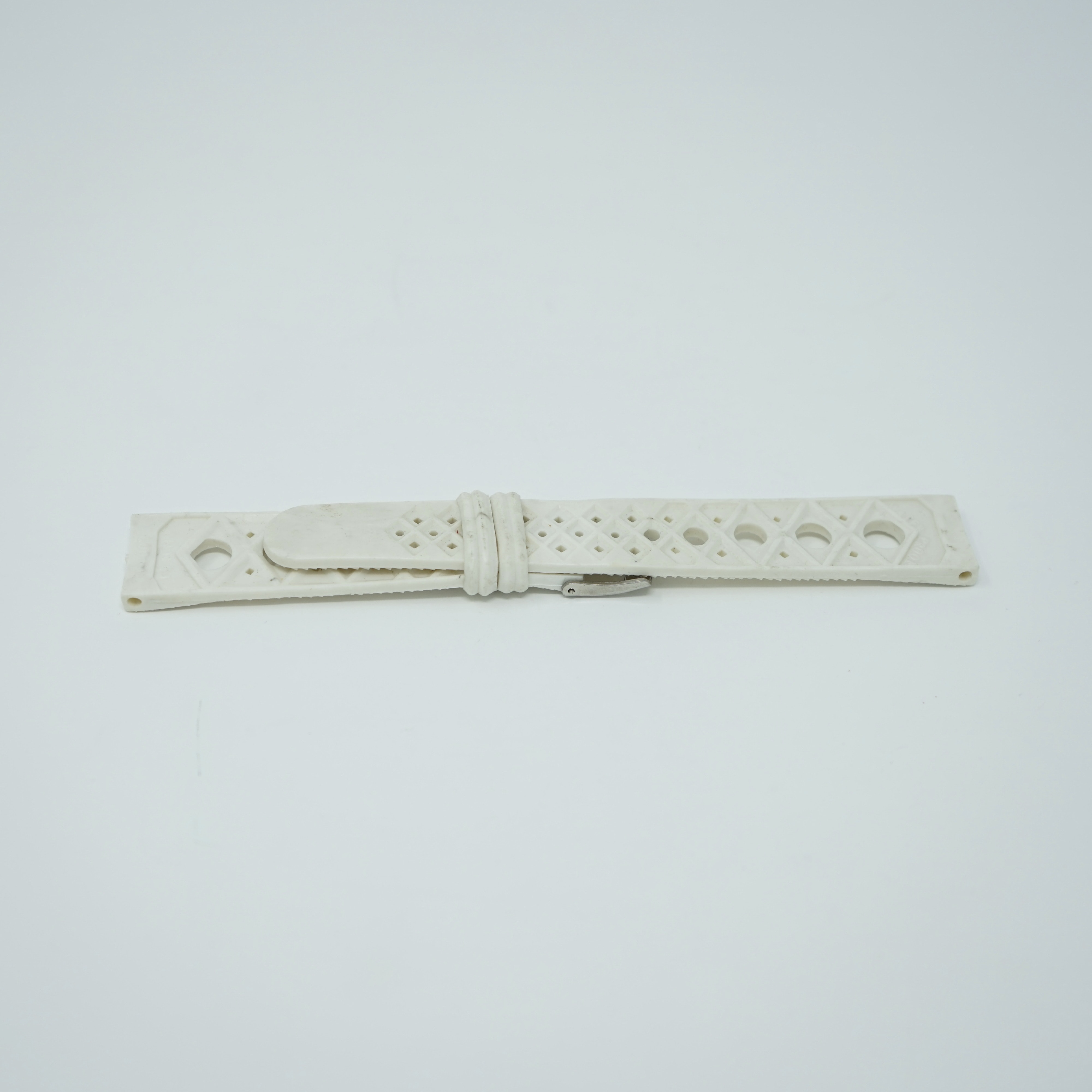 Bracelet Waterproof Blanc 18mm Style Nautic-Ski Arrière