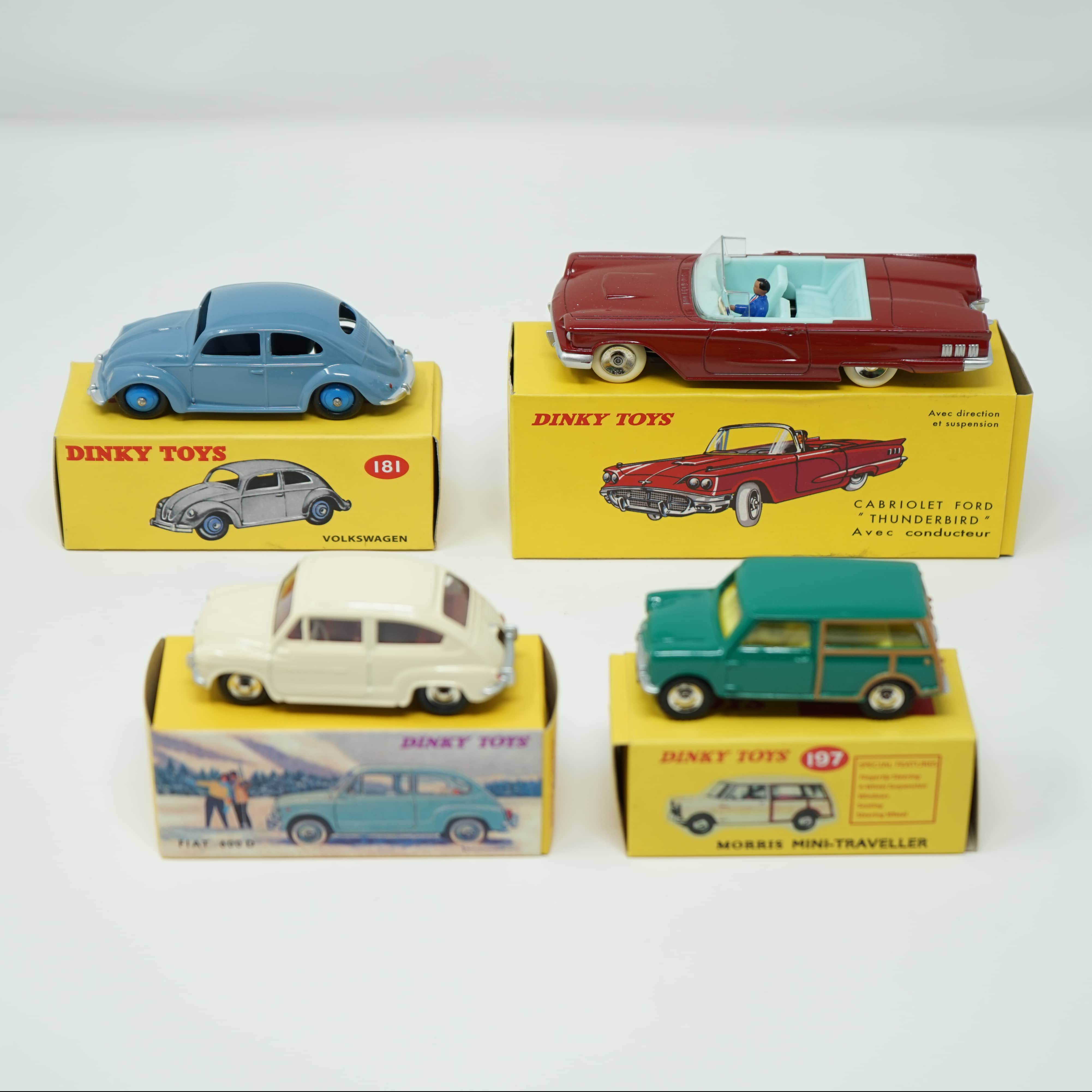 Dinky Toys Coccinelle Ford Fiat Morris Atlas