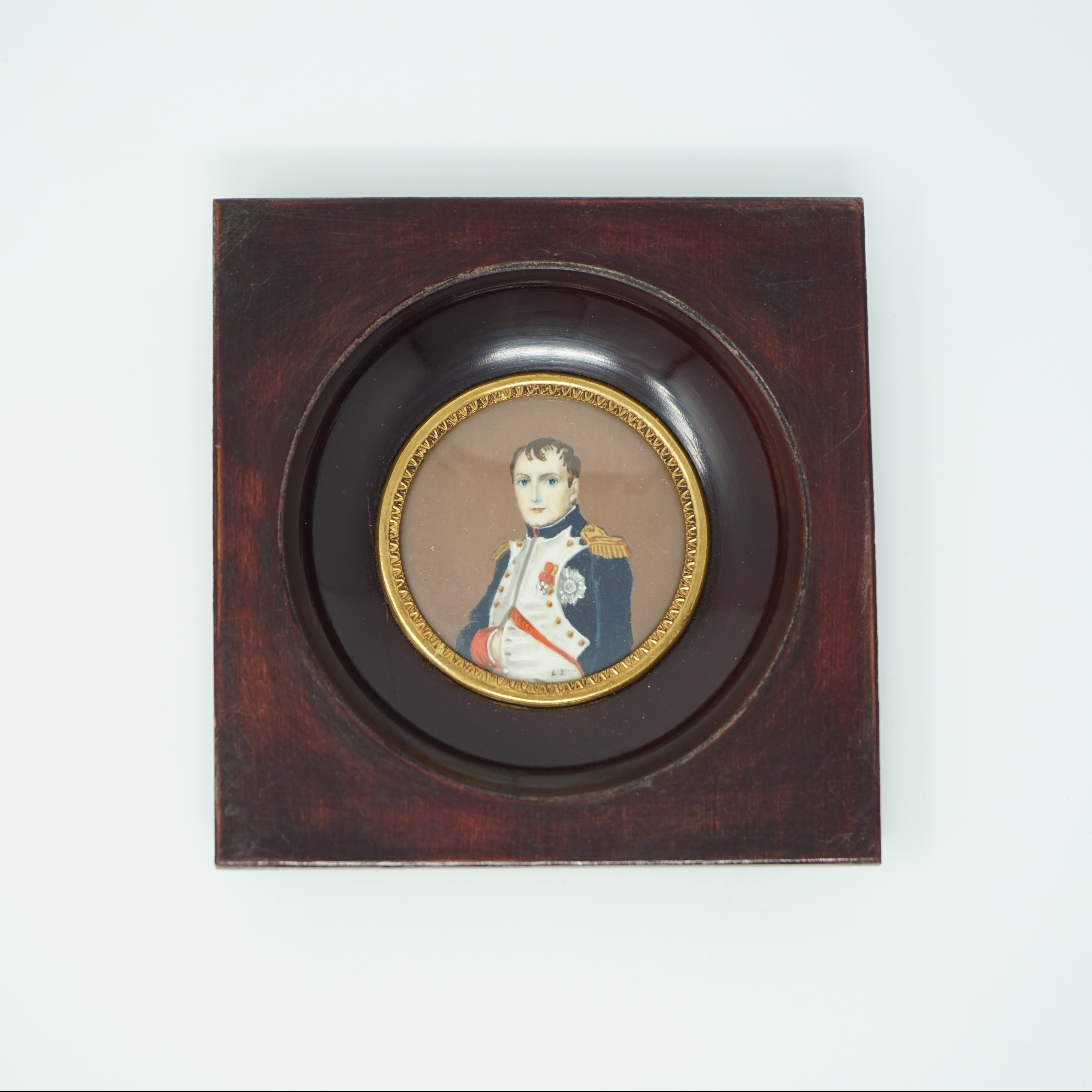Portrait Miniature Napoléon Signé LJ