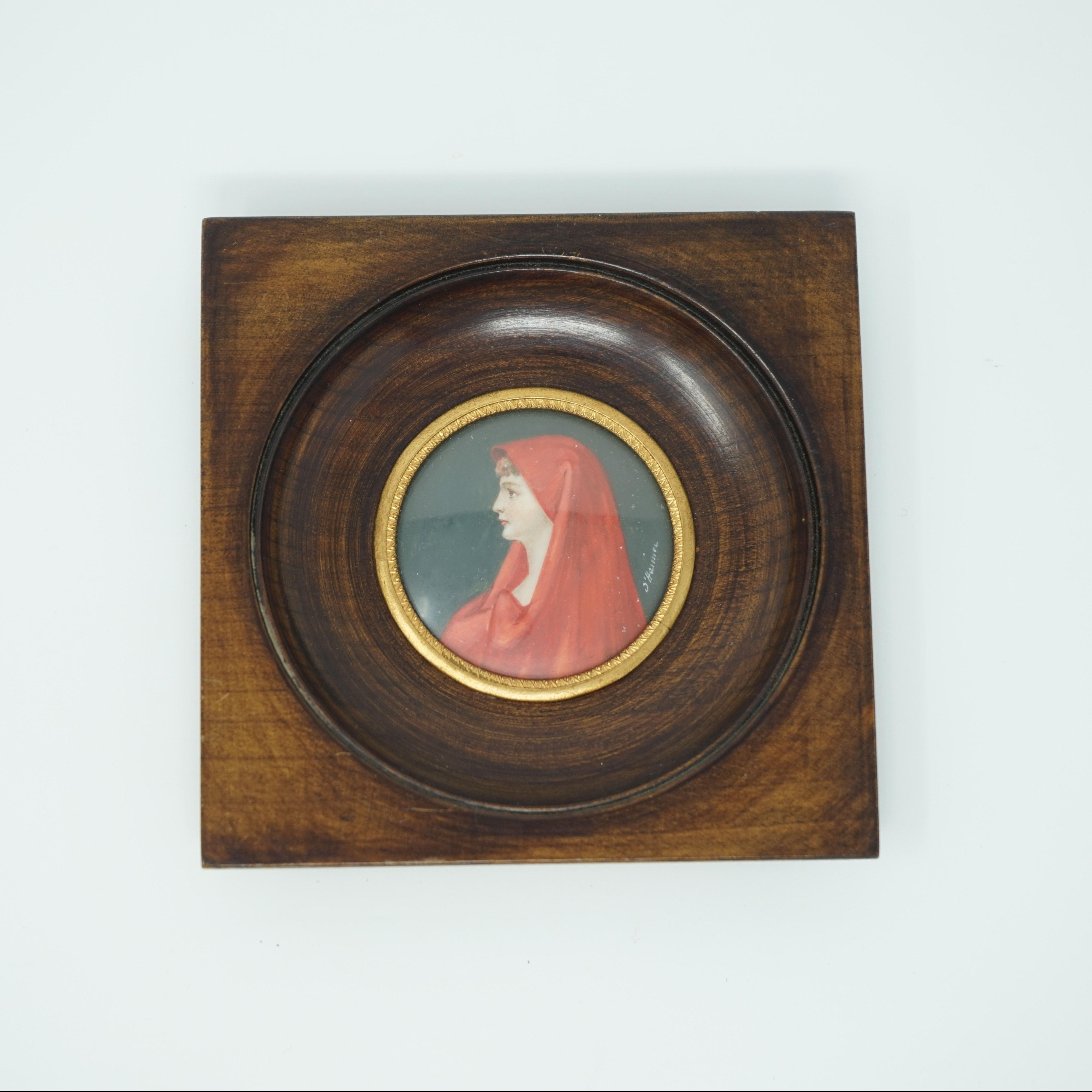 Portrait Miniature Fabiola Signé Henner