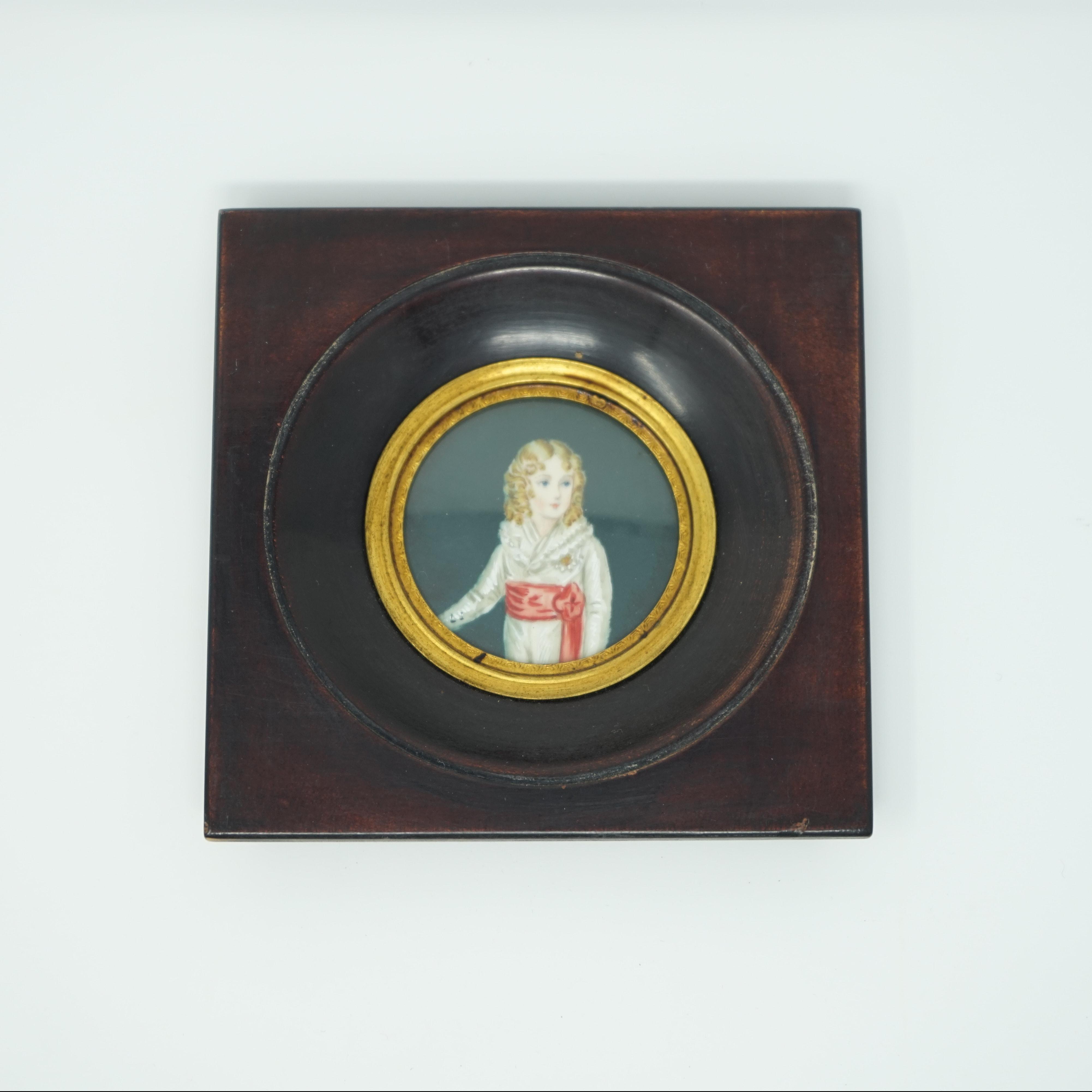 Portrait Miniature du Roi de Rome