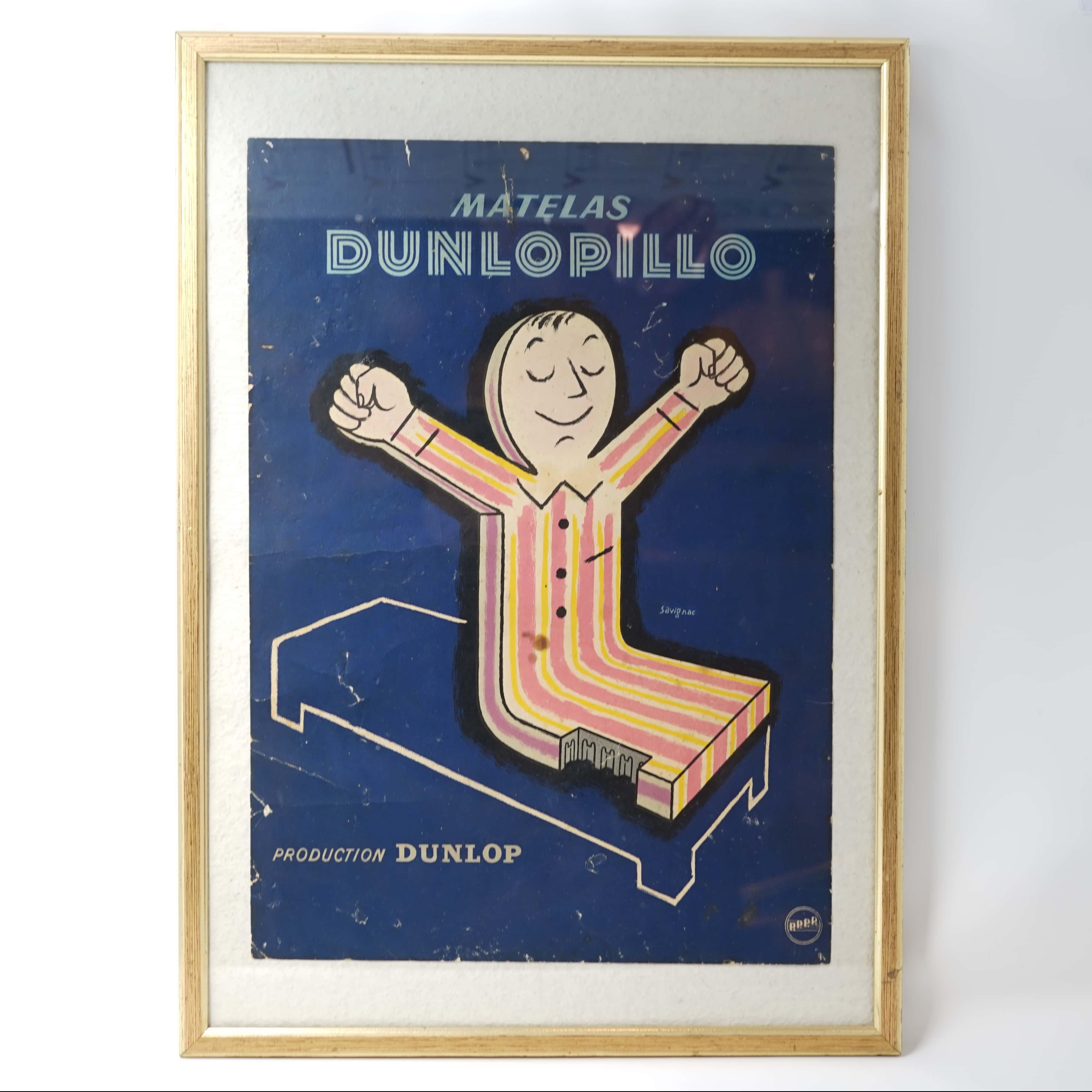 Affiche Dunlopillo Signée Savignac