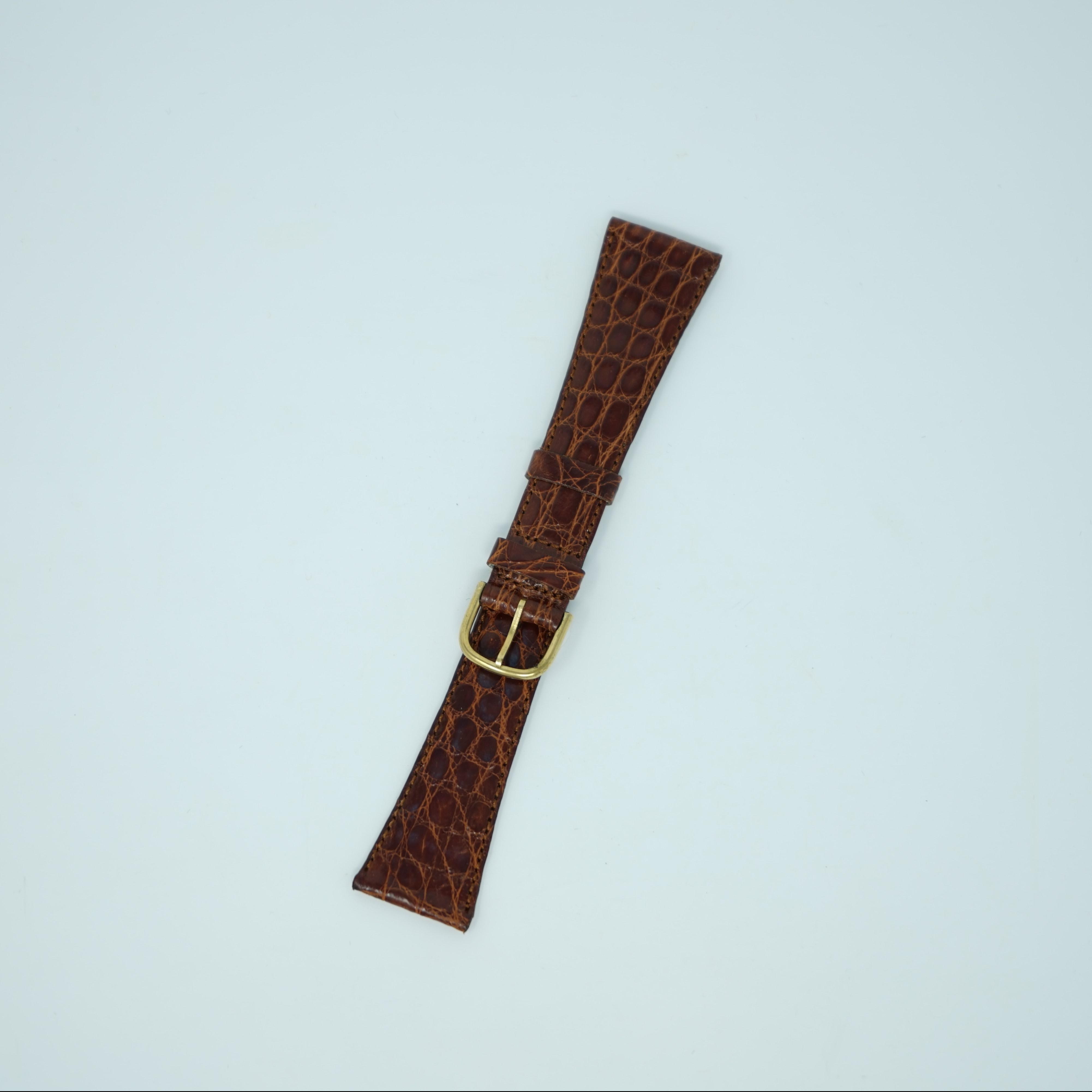 Bracelet de Montre Crocodile Marron