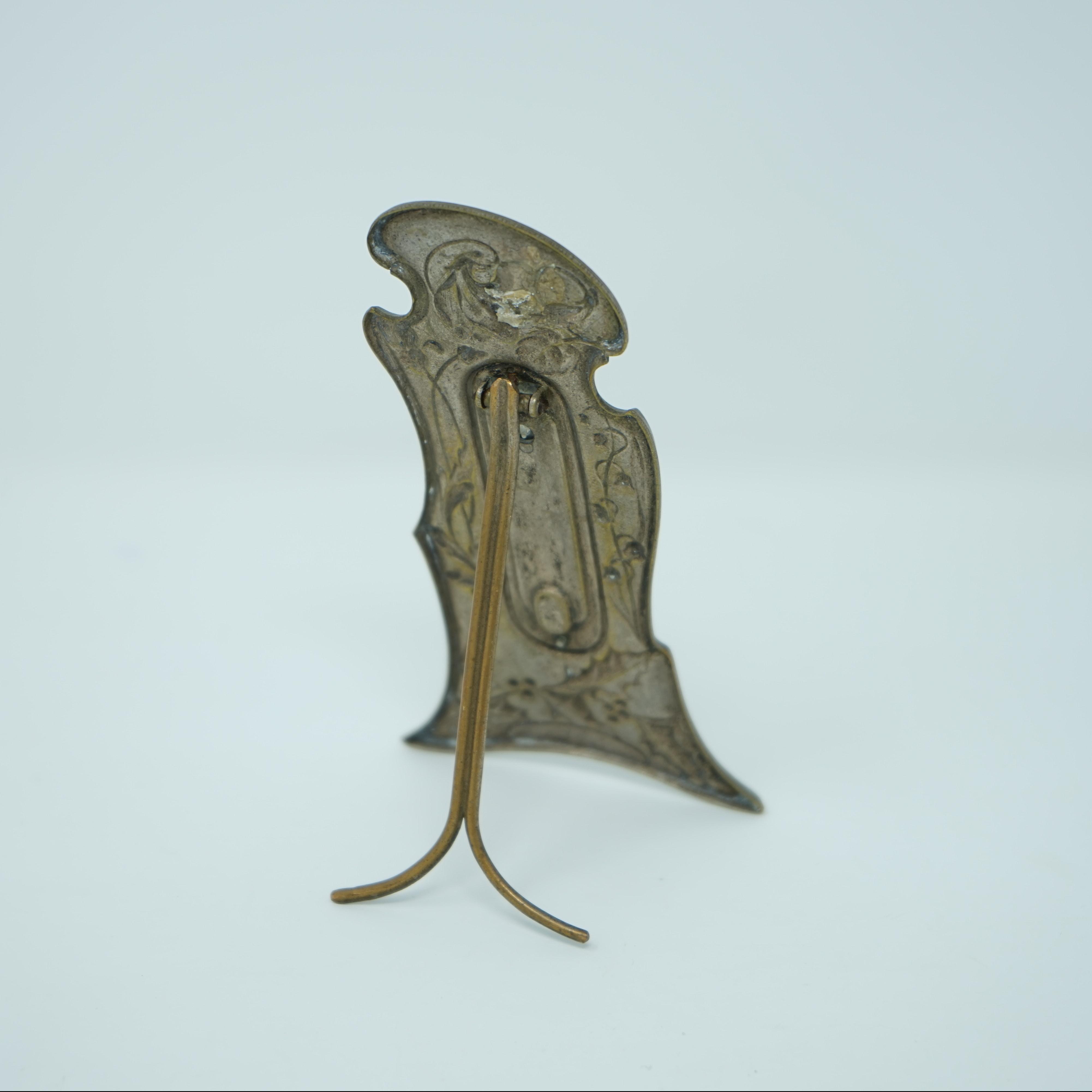 Thermomètre Art Nouveau à Poser dos