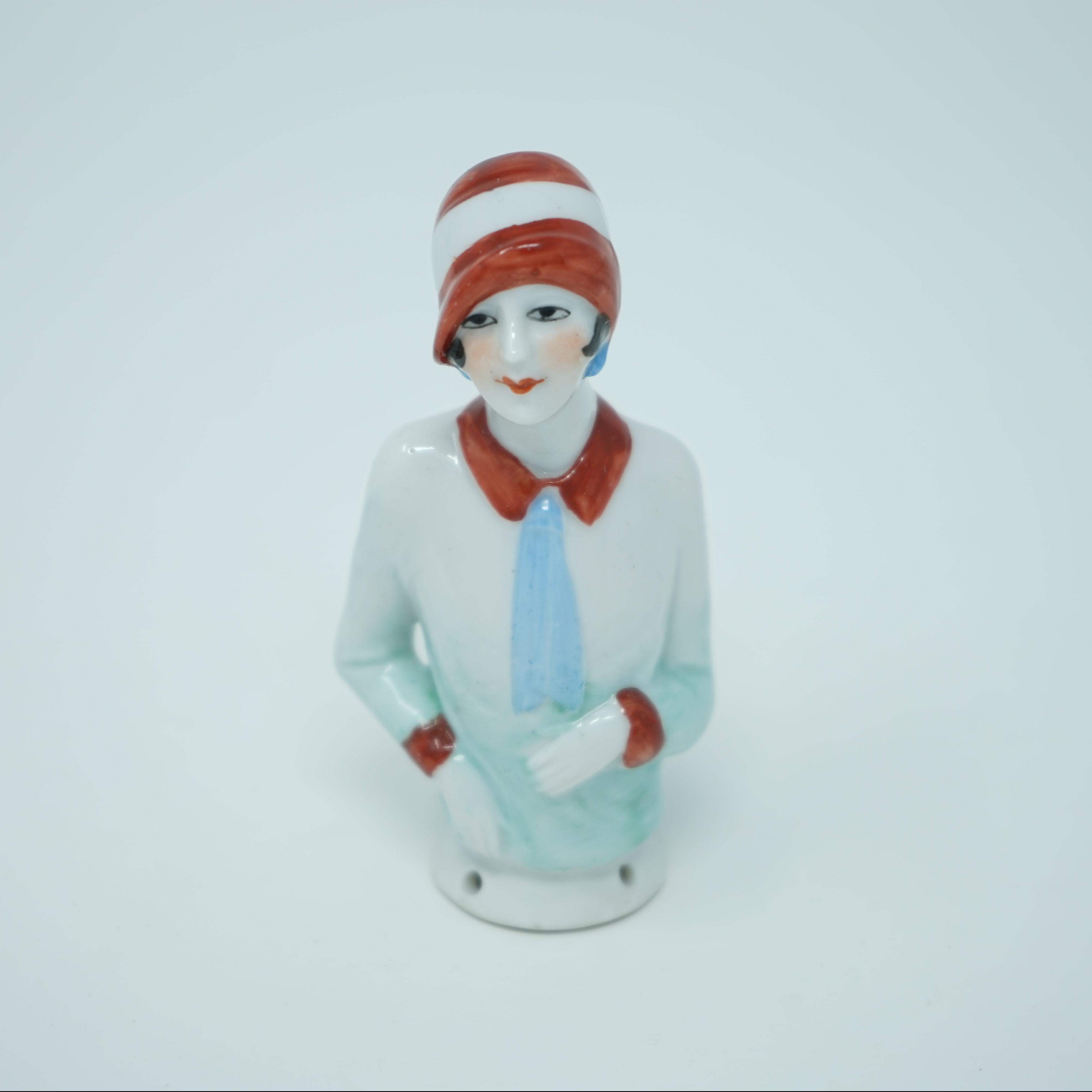 Demie-Figurine en Porcelaine Années 20