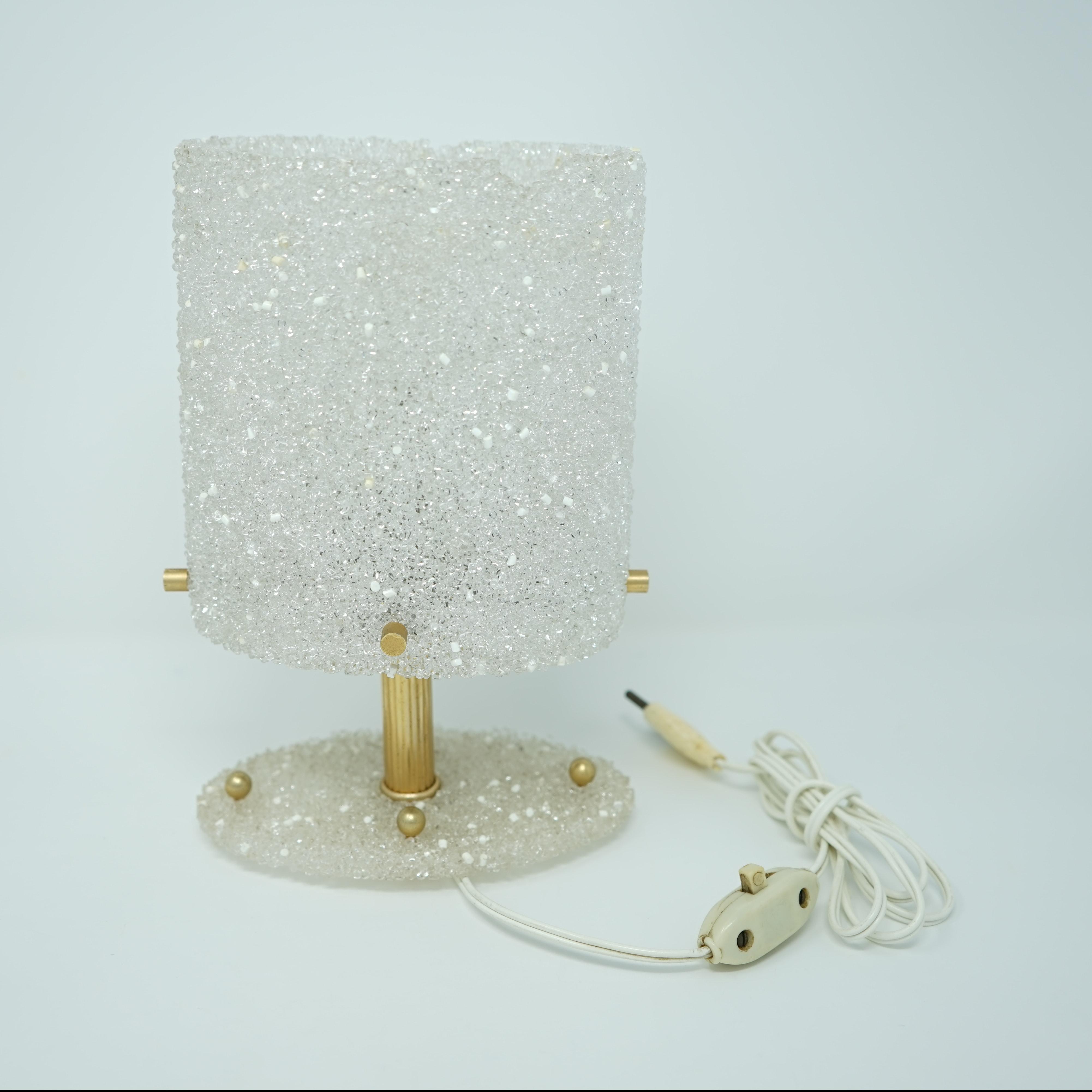 Lampe en Plastique Agglomérée Années 70