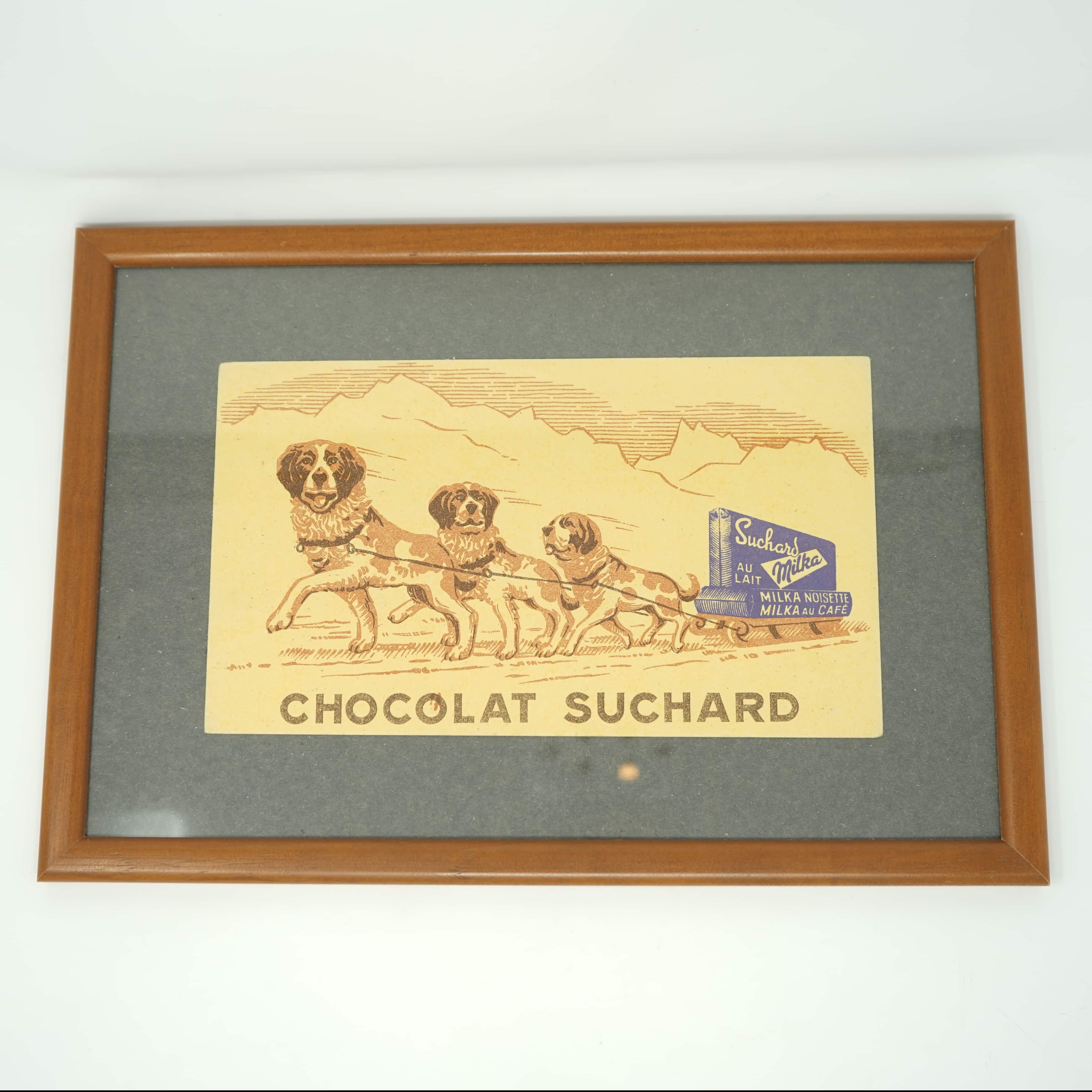 Publicité Chocolat Suchard Encadré