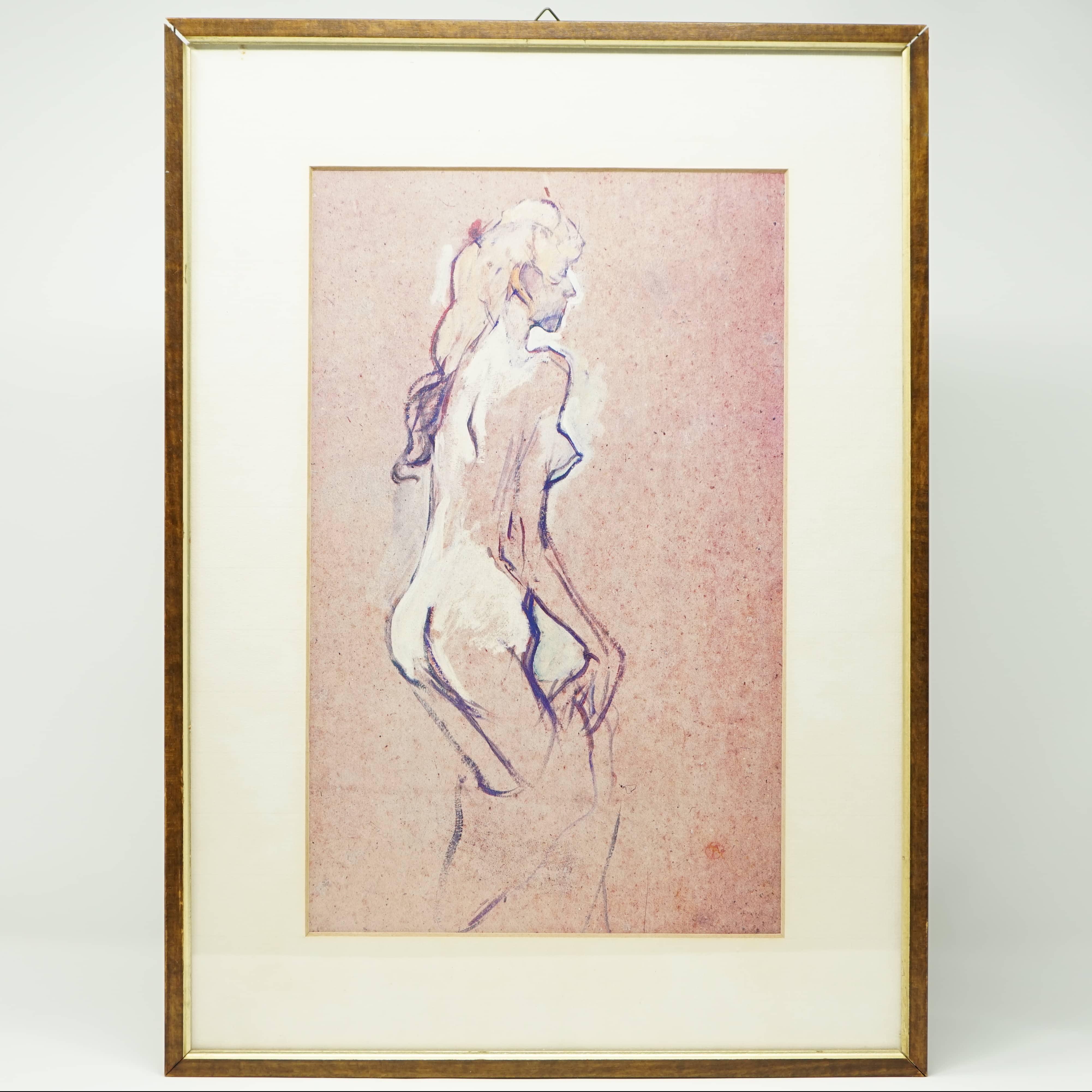 Planche Encadrée Toulouse Lautrec