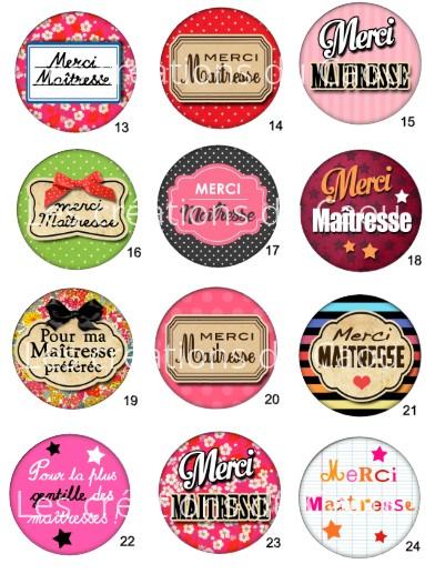 Images pour petit cadeau pour remercier la maitresse de votre enfant: magnet, miroir, porte-clés, décapsuleur, badge, marque-page.