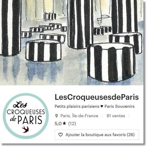 La boutique des Croqueuses de Paris !