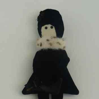 Nina, poupée pièce unique, rétro, poupée collector, Les curiosités de fred, les curiosités de fred;