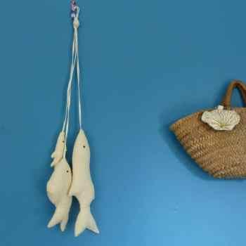 peche de poissons- peche du jour-poissons à suspendre-décoration murale-poissons tissus- Les curiosités de fvred- créations textiles- France