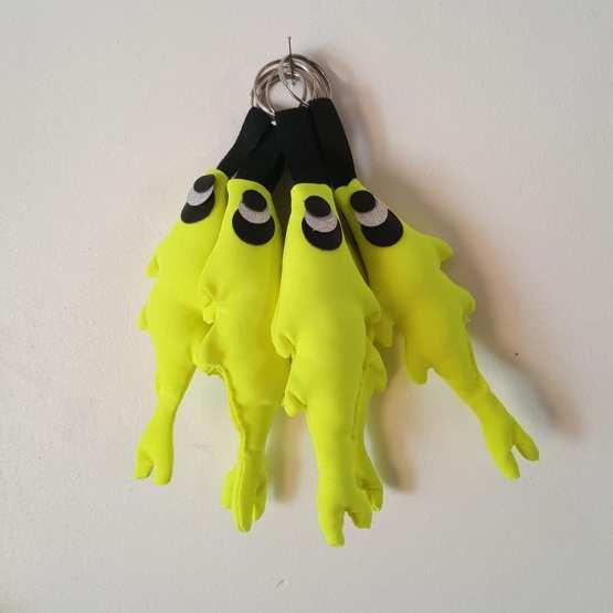 Porte-clés jaune fluo,créations Fred Petit