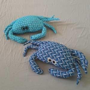 crabe repose tête bleu turquoise