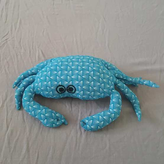 crabe repose-tête turquoise
