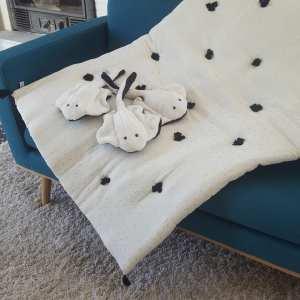 courtepointe molletonée et petites raies blanches, slowmade, créatiojns textiles, Made in France, Fred Petit.