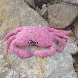Petit-coussin-crabe-repose-tête-rose