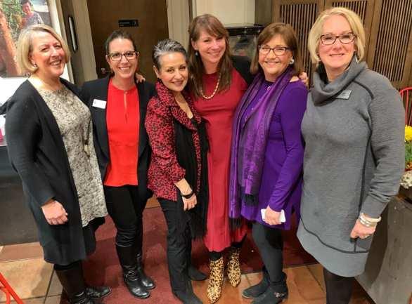 The Dame Somms R to L: Kim Hack, Carla Williams, Gina Voci, Veronica Hastings, Liz Barrett, Jill Haas.