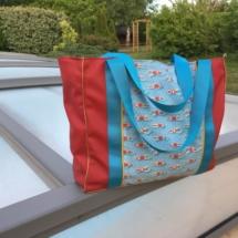sac de piscine en coton enduit