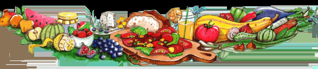 Bannière de fruits et légumes