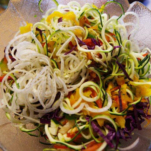 Les Délices de Nini : Spaghetti de légumes crus pour nos plats pleins de saveurs
