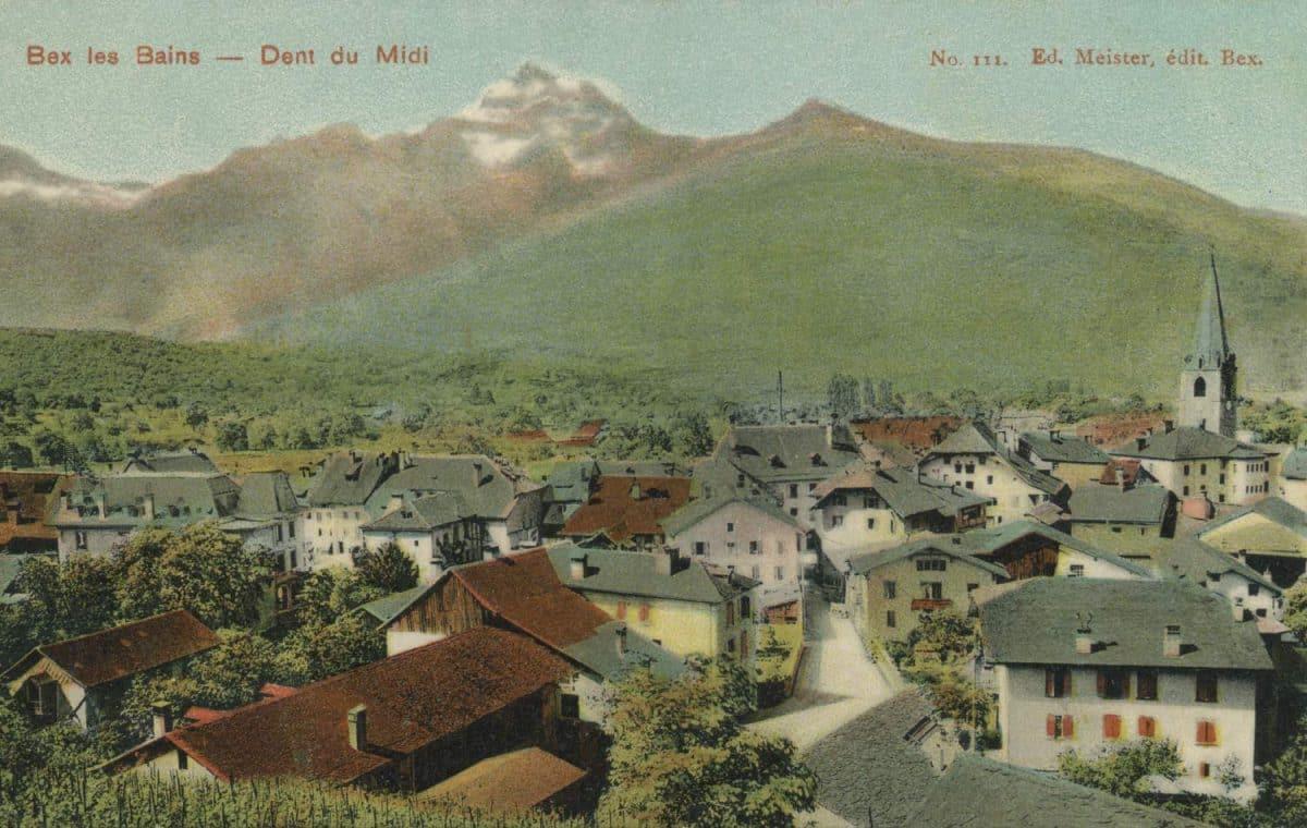 Carte postale, Bex les Bains - Dent du Midi