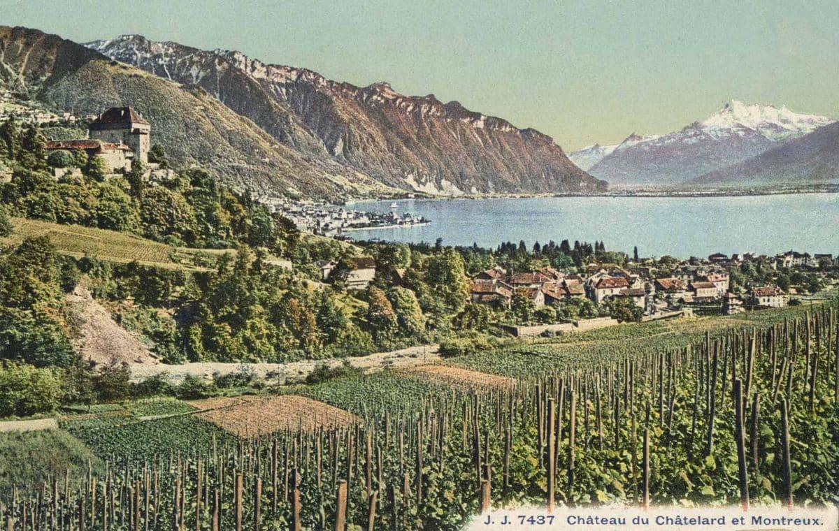 Carte postale. Château du Châtelard et Montreux