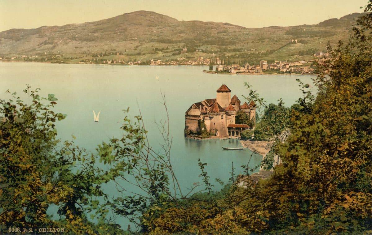 Photochrome. Chillon et Montreux