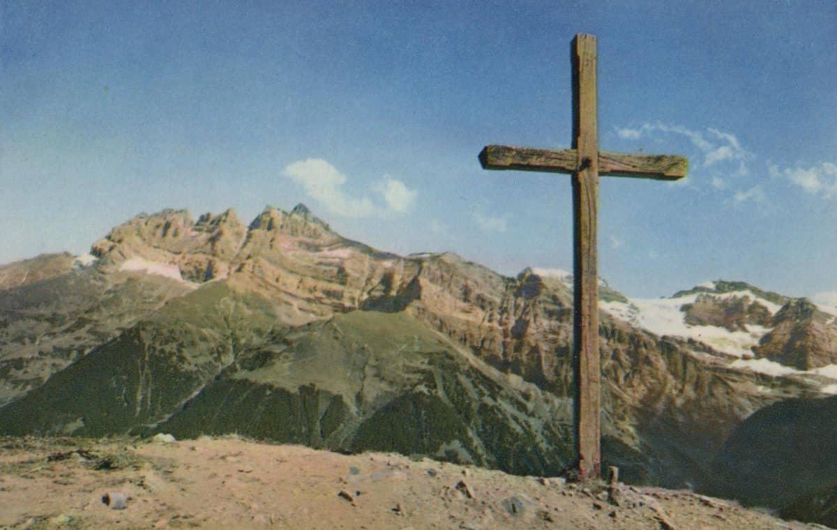 Carte postale. Croix de Culet, Champéry, Dents du Midi et Ruan