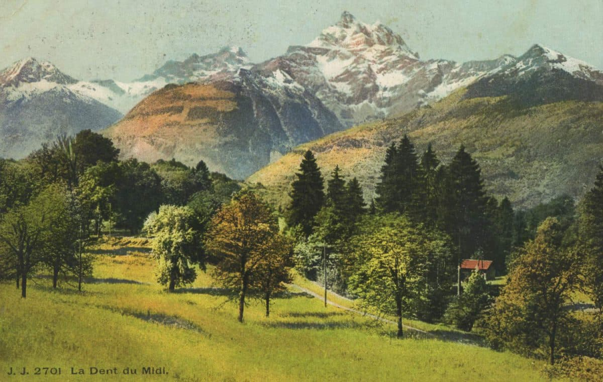 Carte postale, La Dent du Midi