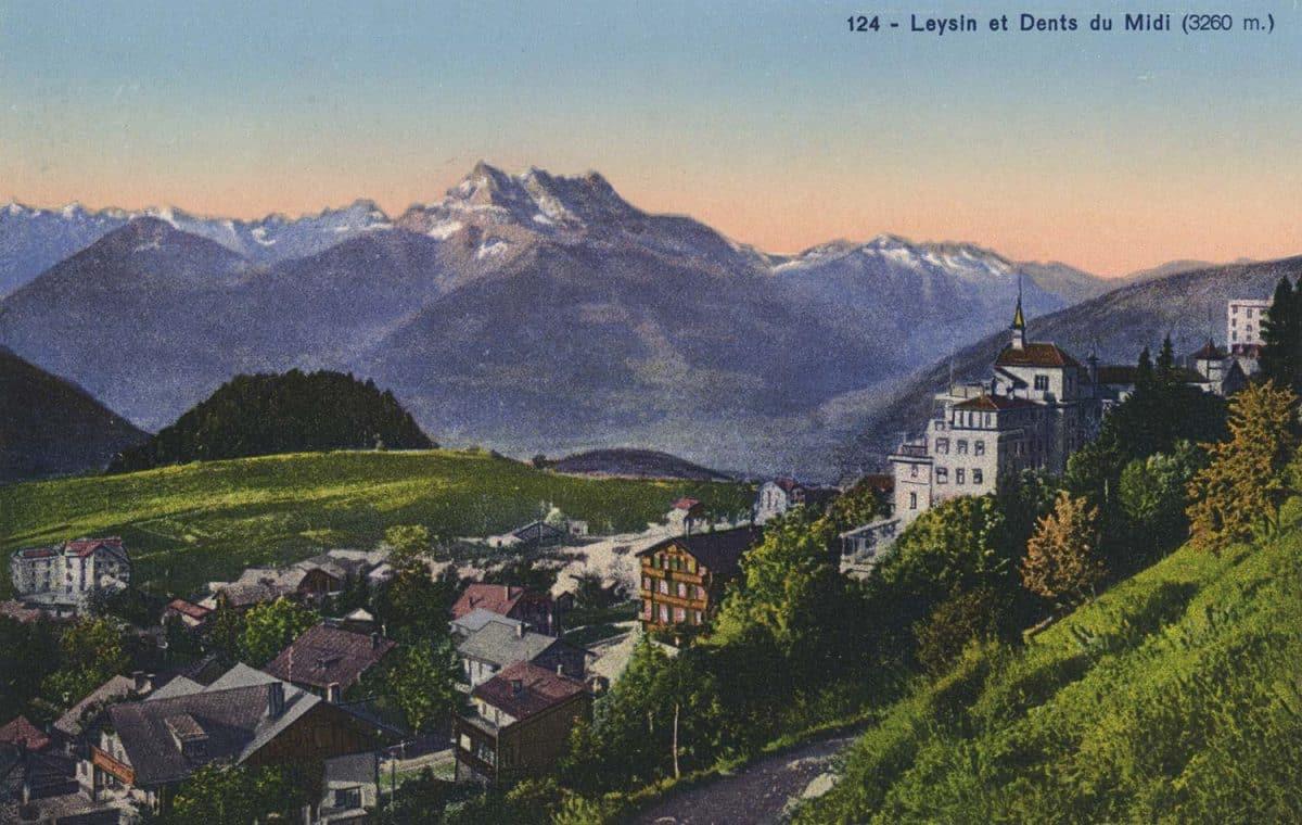 Carte postale. Leysin et Dents du Midi (3260)