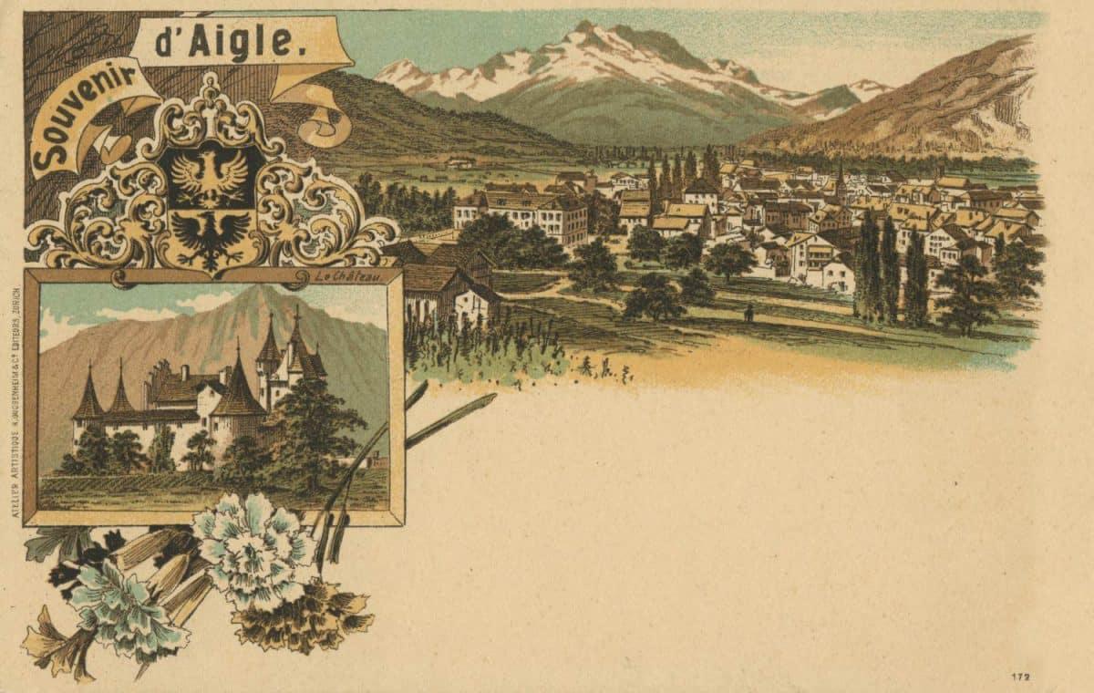 Carte postale, Souvenir d'Aigle