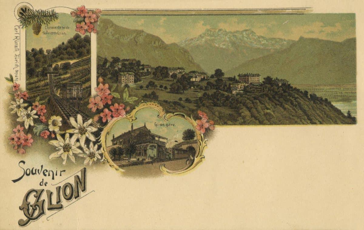 Carte postale, Souvenir de Glion