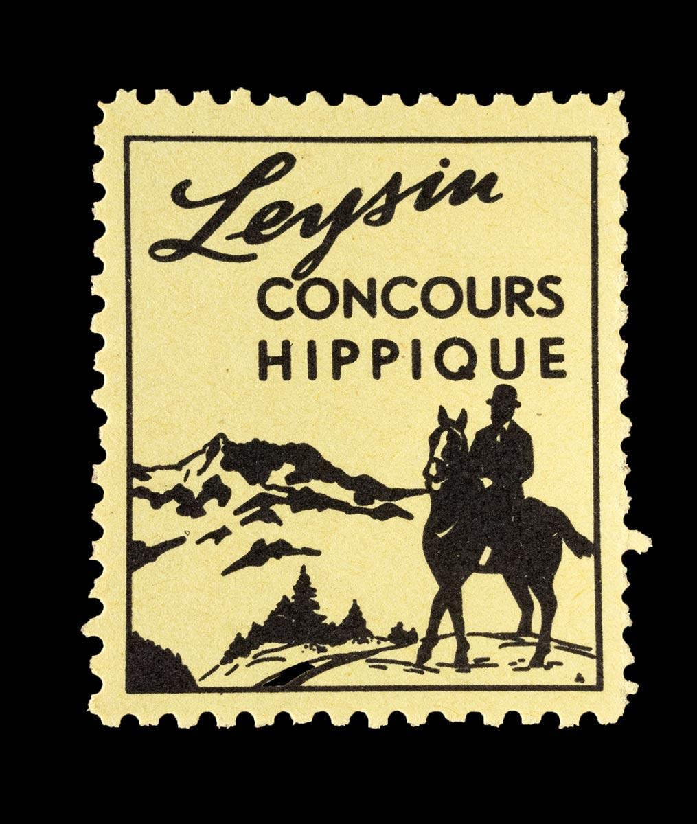 Timbre. Concours hippique à Leysin