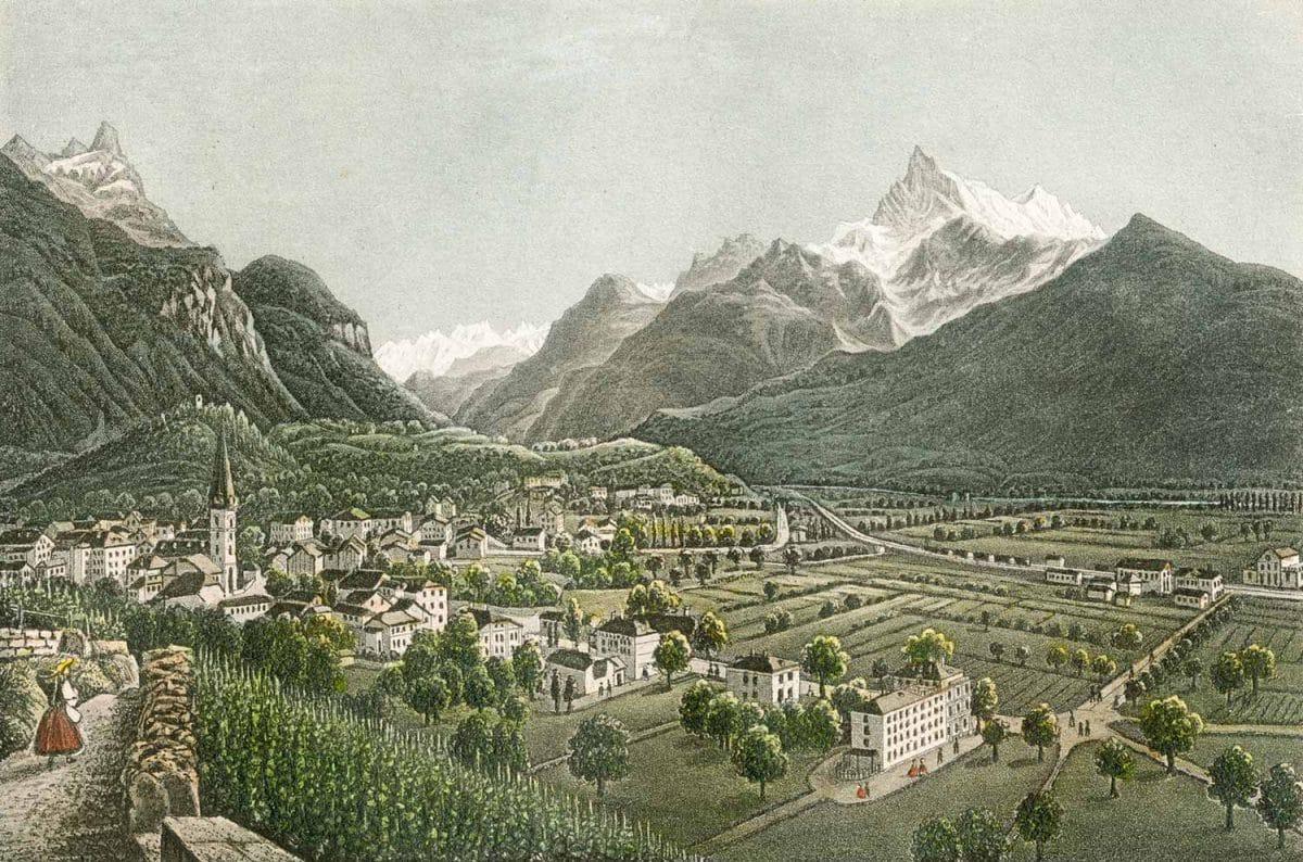 Gravure, Bex, Canton de Vaud